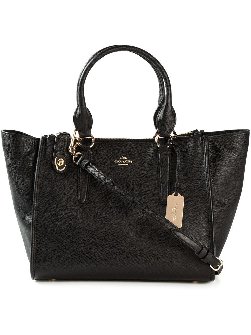 Coach Crosby Leather Shoulder Bag in Black | Lyst