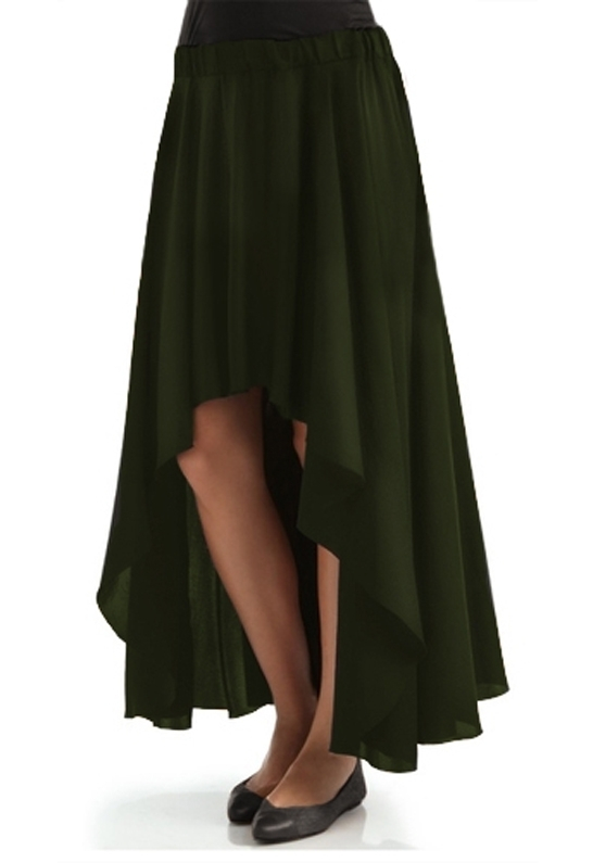 enza costa high low skirt in green green lyst