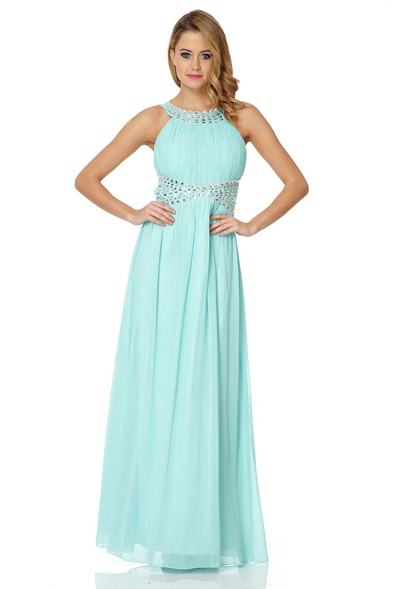 Quiz stone and champagne maxi dress