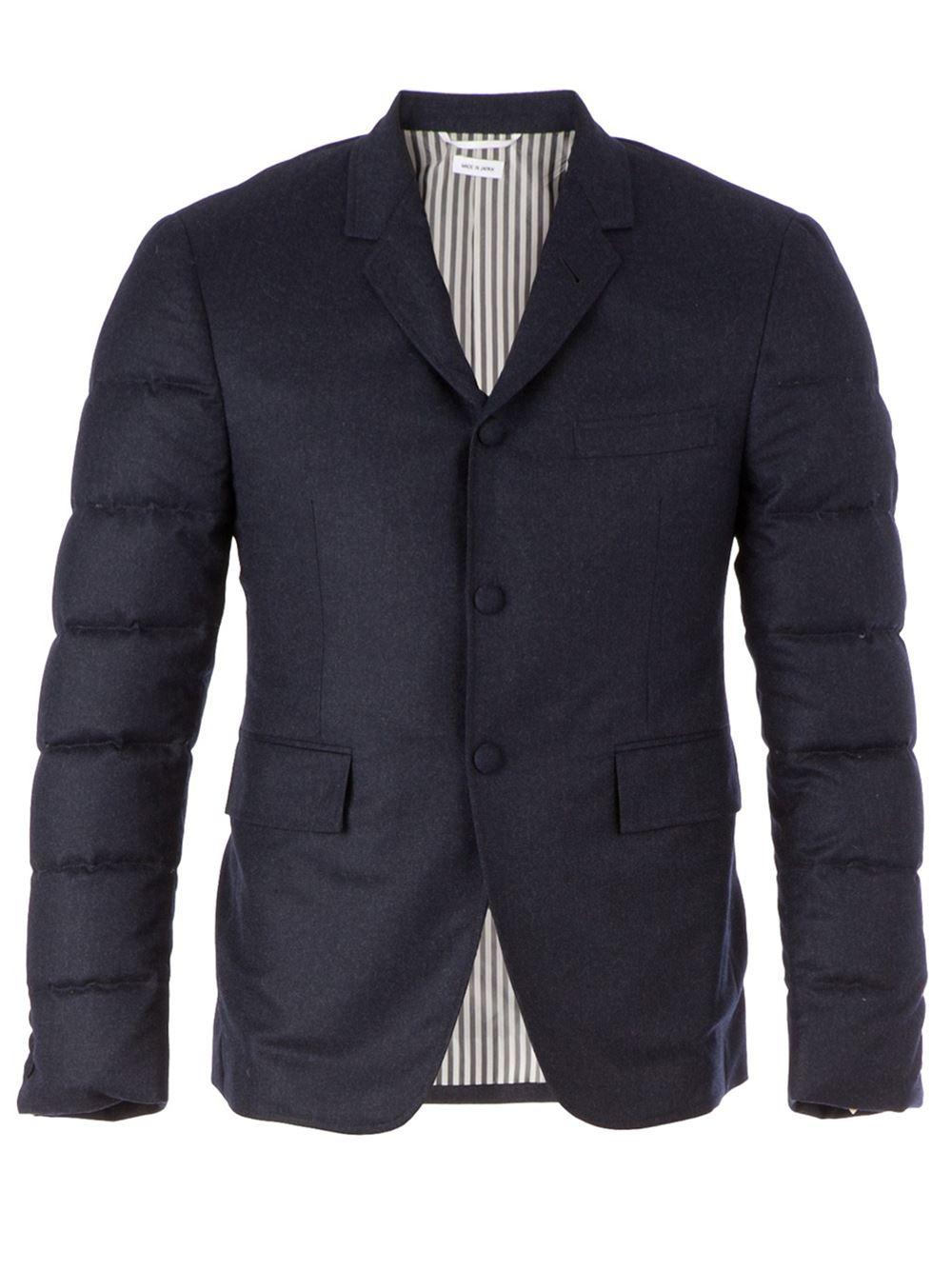 Lyst Thom Browne Padded Blazer In Blue For Men