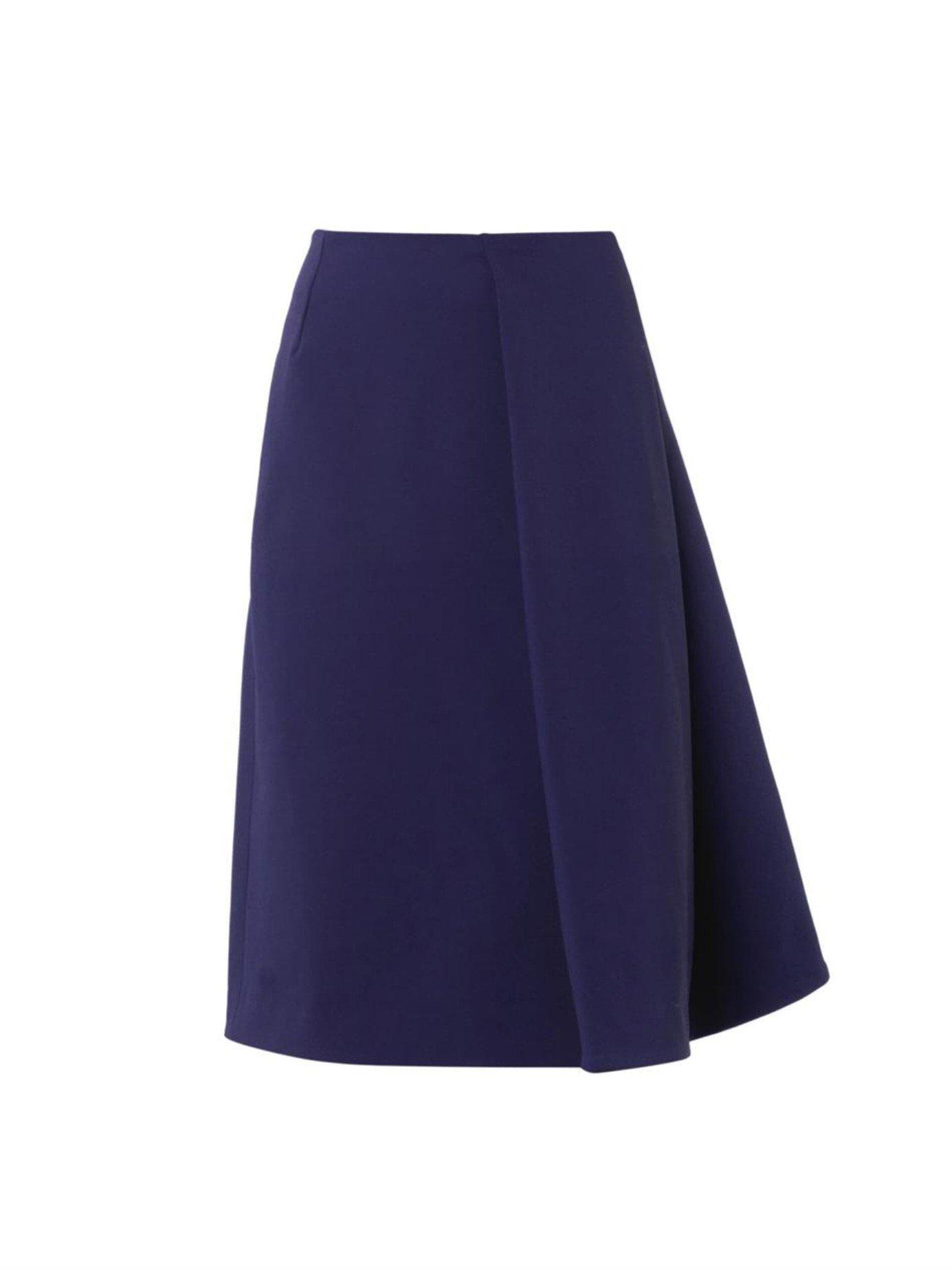 j w sail wool blend a line skirt in blue lyst
