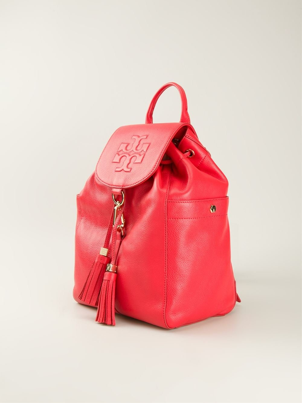 Lyst - Tory burch Thea Backpack in Red