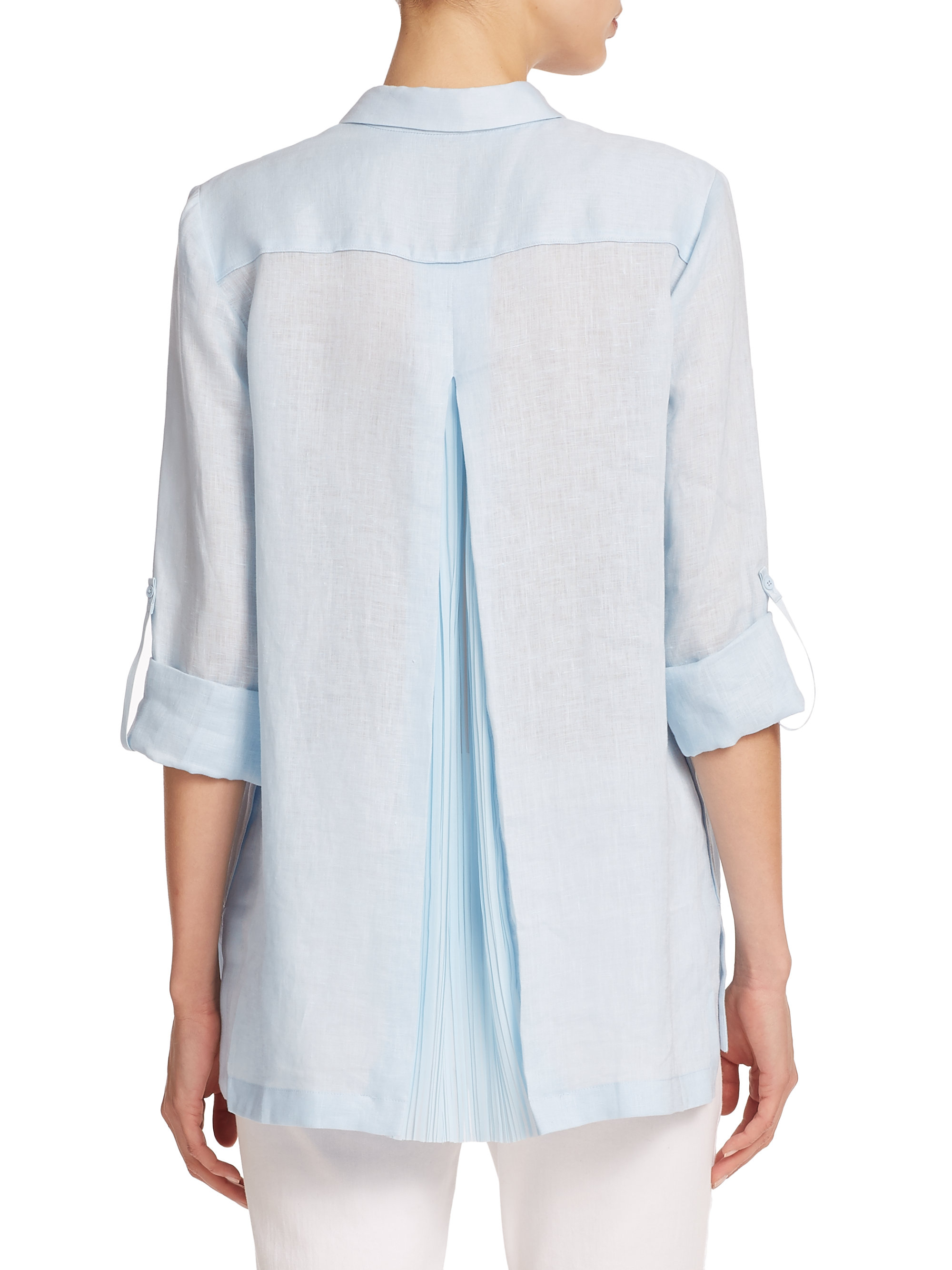 f7461506372e Elie Tahari Carly Blouse in Blue - Lyst