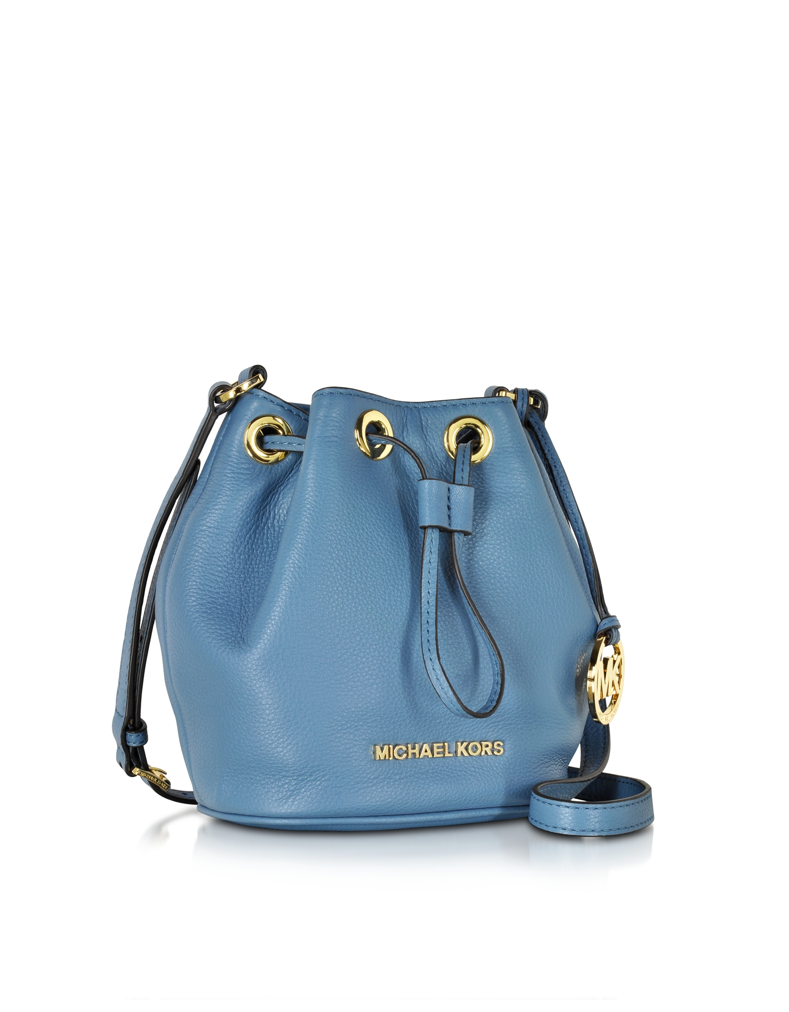 e8055767639e03 Michael Kors Jules Soft Leather Drawstring Crossbody Bag in Blue - Lyst