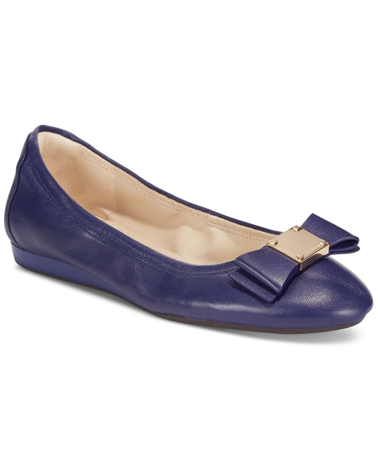 22ae1d4f2d09 Lyst - Cole Haan Tali Bow Ballet Flats in Blue