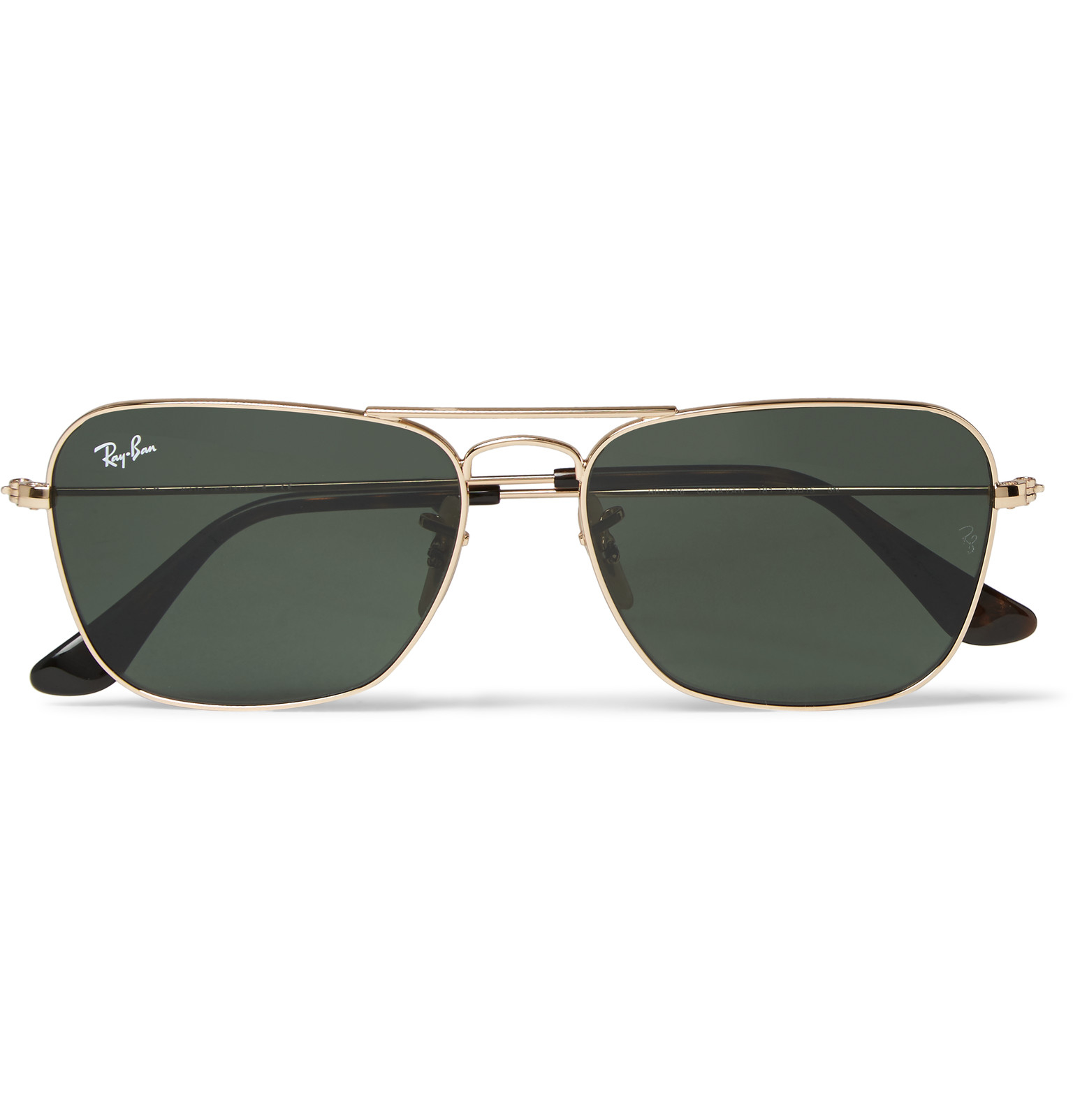 16bfc28046 ... inexpensive lyst ray ban square frame gold tone sunglasses in metallic  for men 9205f cad89