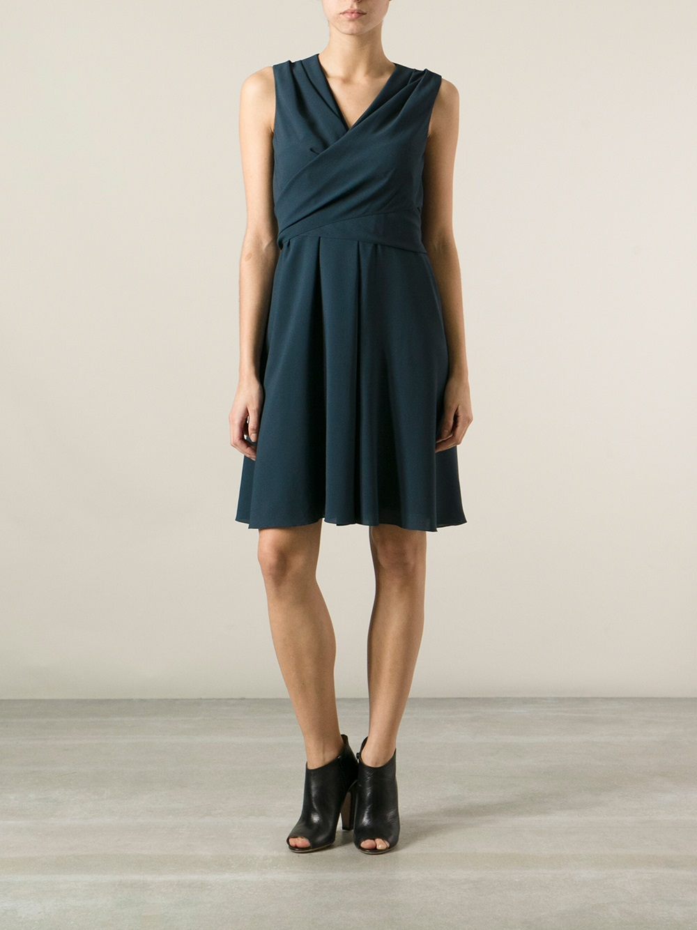 lyst kenzo wrap around dress in blue