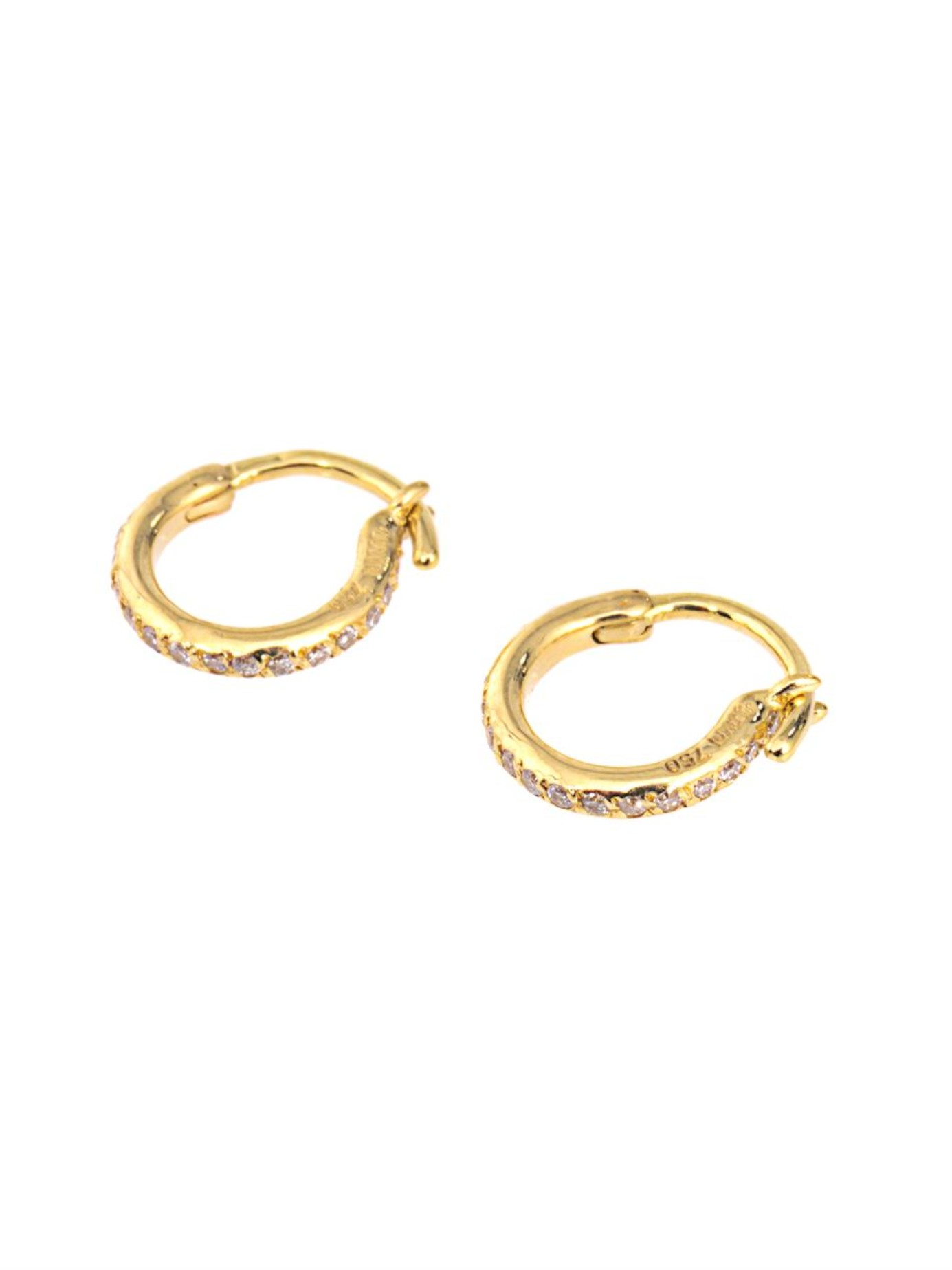Diamond & yellow-gold earrings Ileana Makri mRfb9IlwG
