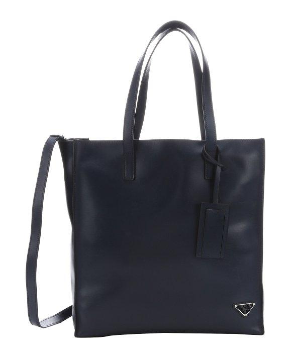 Prada Baltic Blue Calfskin Large Convertible Shopper Tote in Blue ... - prada backpack baltic blue + black + sea blue