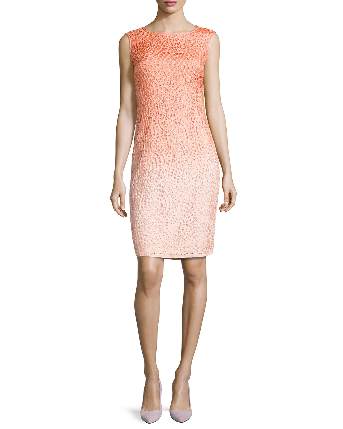 Lyst Lafayette 148 New York Braided Ombre Sheath Dress