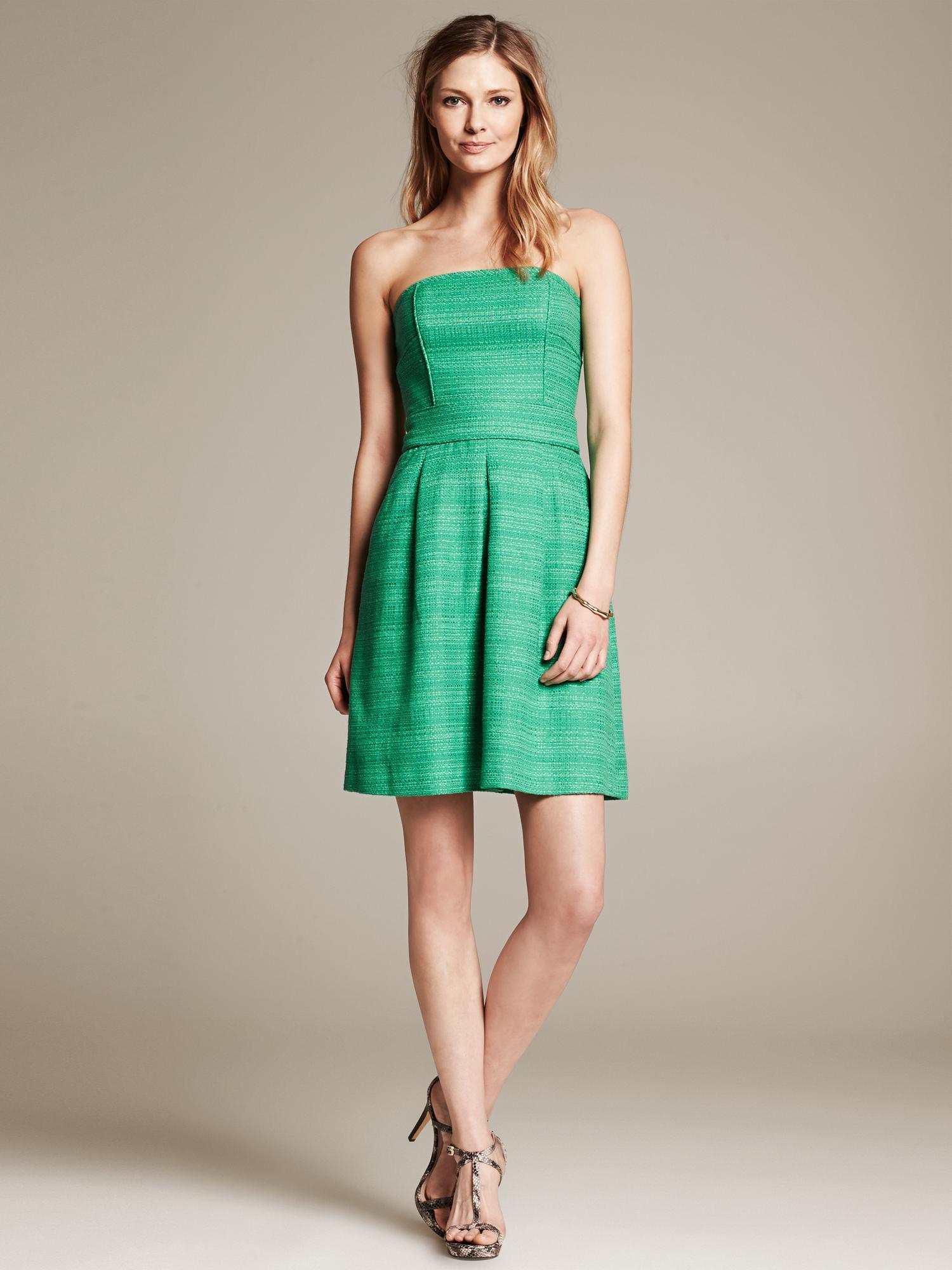 emerald green strapless dress « Bella Forte Glass Studio