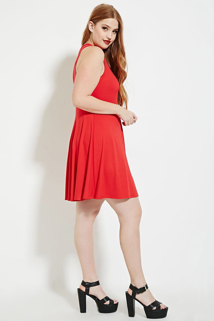 c836b7be377 Gallery. Women s Palm Print Dresses Women s Mesh Skater Dresses Women s Plus  Size ...