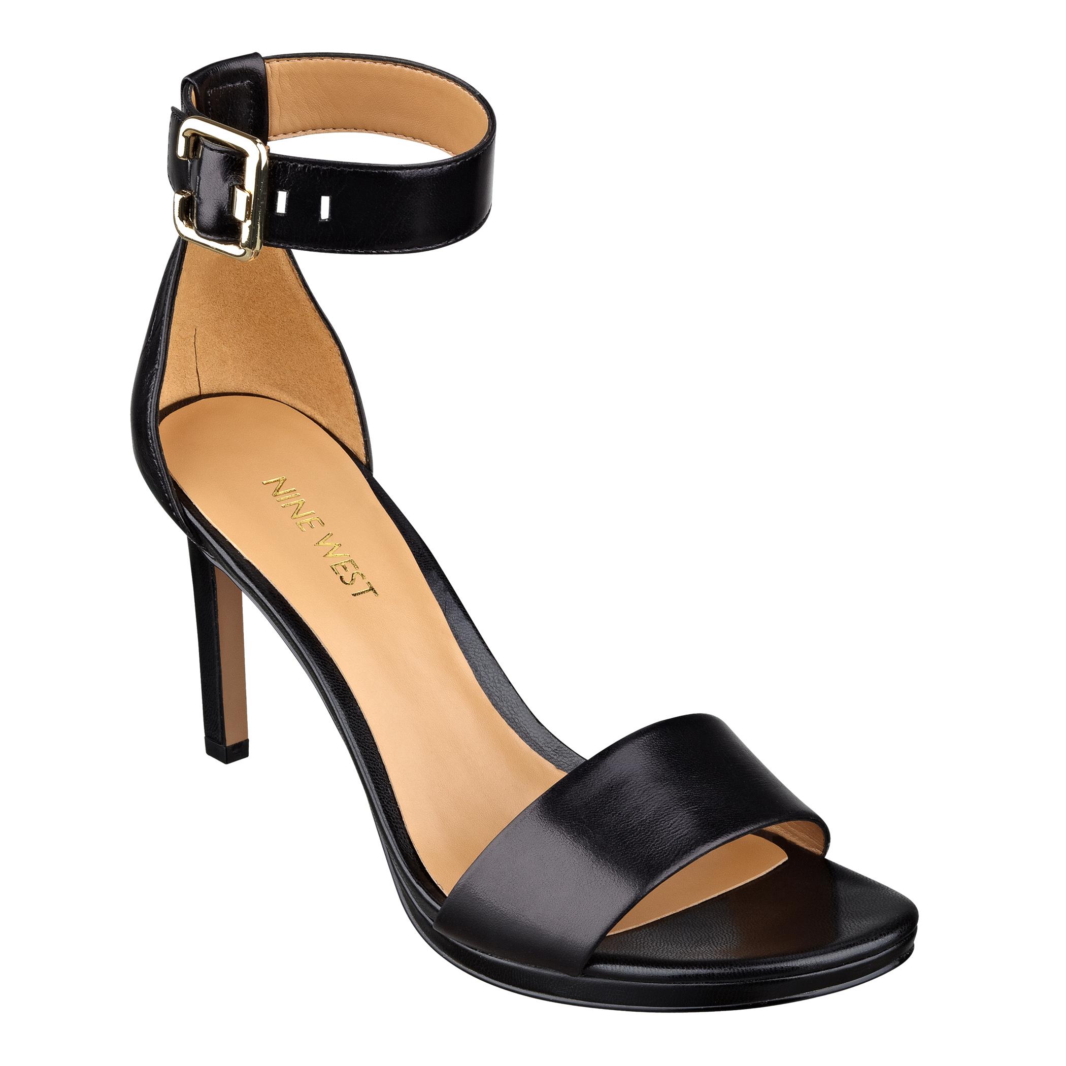 nine west meantobe platform sandals in black black