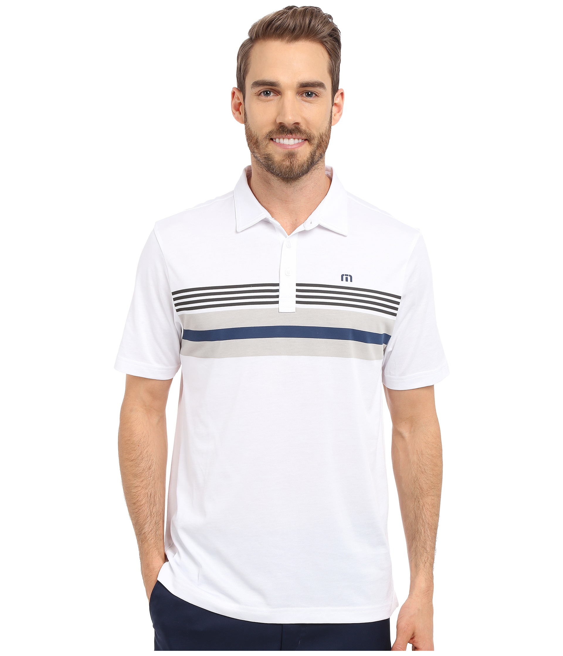 369a7b8c0 Travis Mathew Deeds Polo in White for Men - Lyst
