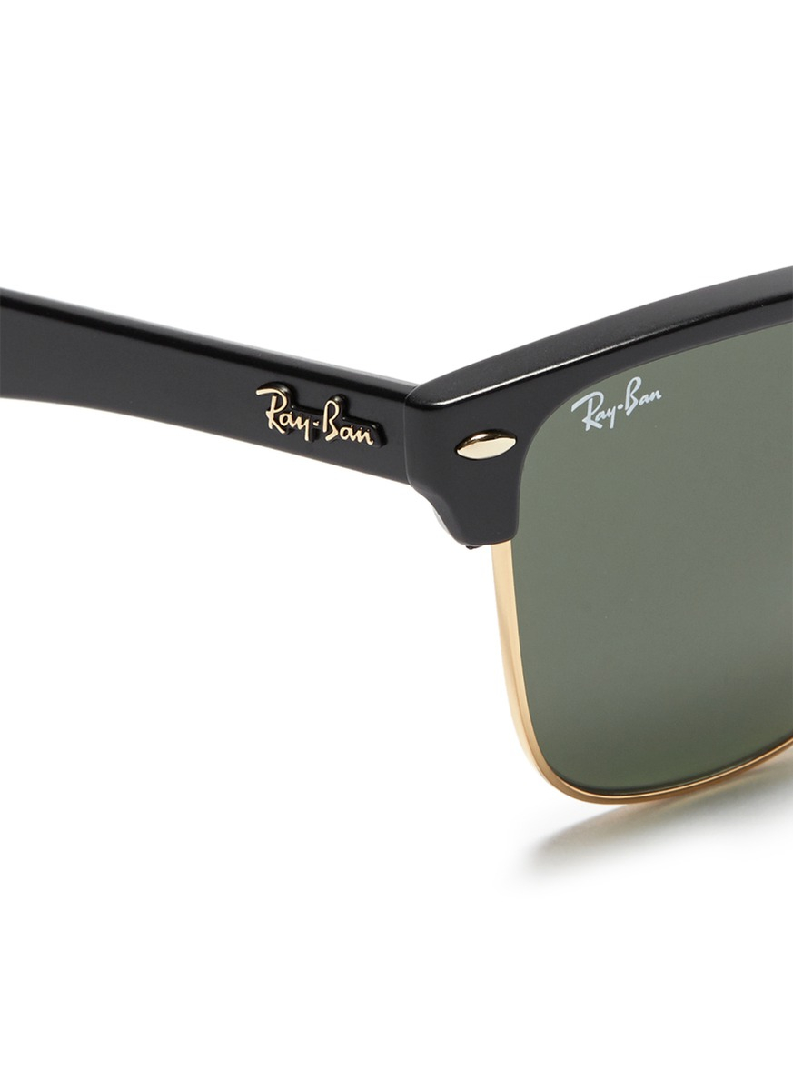 lyst rayban clubmaster oversized matte acetate