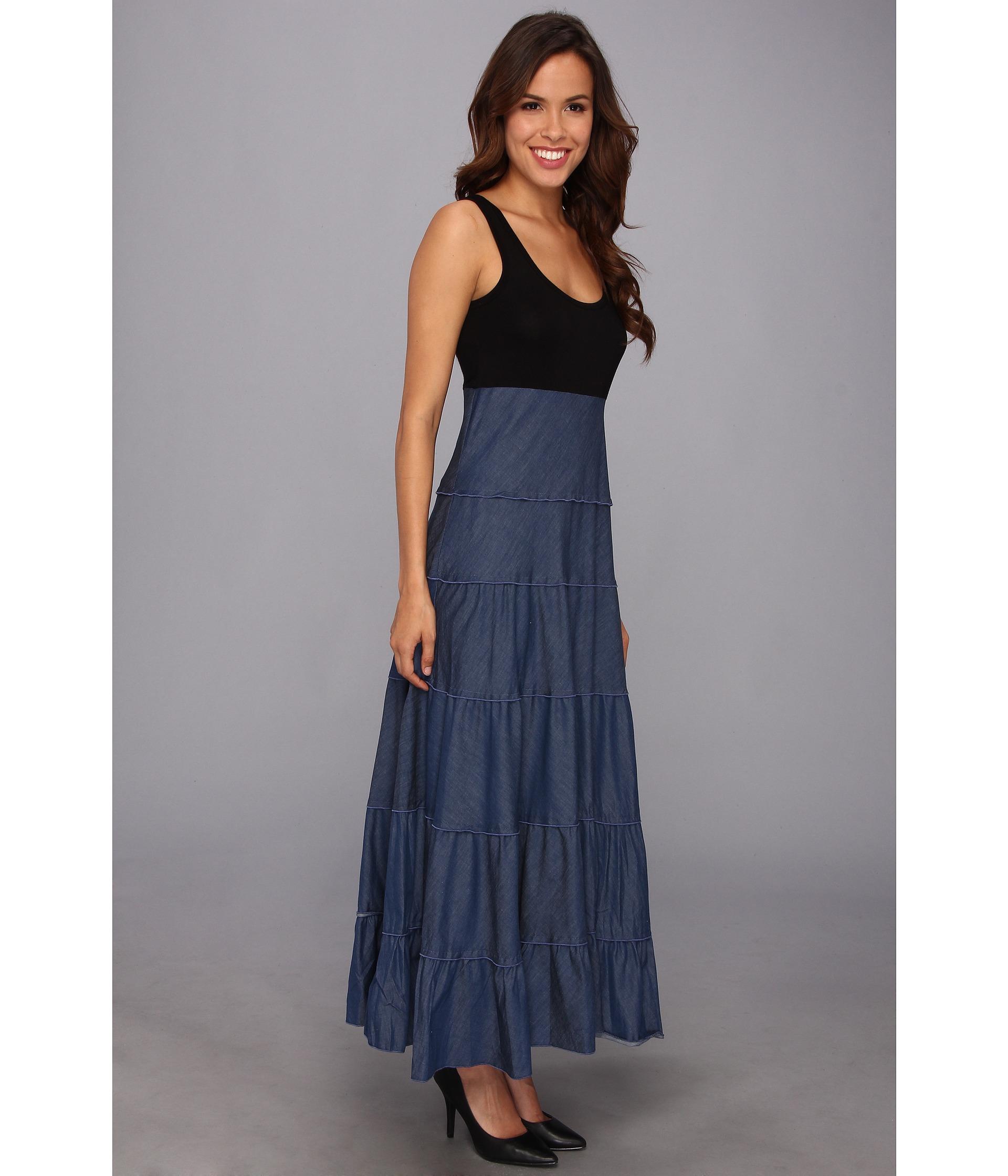 Karen kane Tiered Maxi Dress in Blue | Lyst