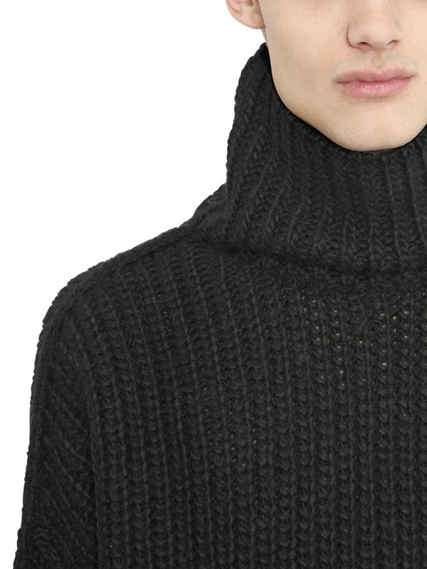 d7ce2edb7c4a6b Blood Brother Wool Blend Rib Knit Turtleneck Sweater in Black for ...