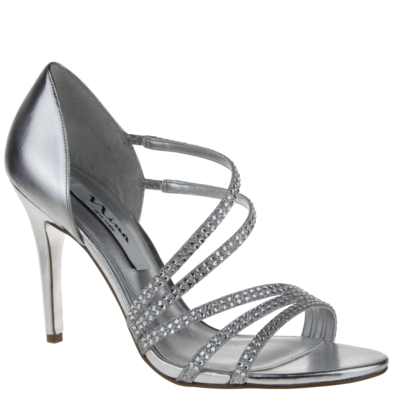 Nina Shoes Nina Coretta In Silver Silver Baby Glitter Lyst
