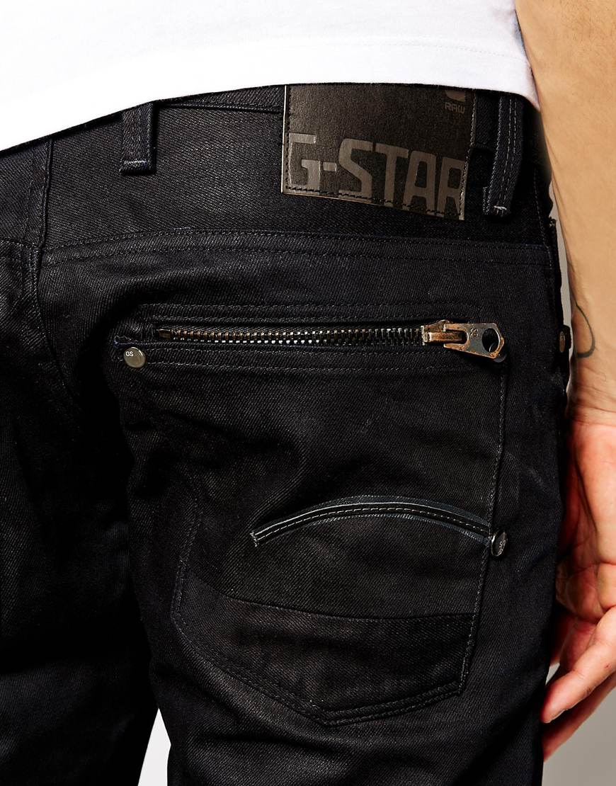star raw g star jeans attacc low straight black 3d aged in black for. Black Bedroom Furniture Sets. Home Design Ideas