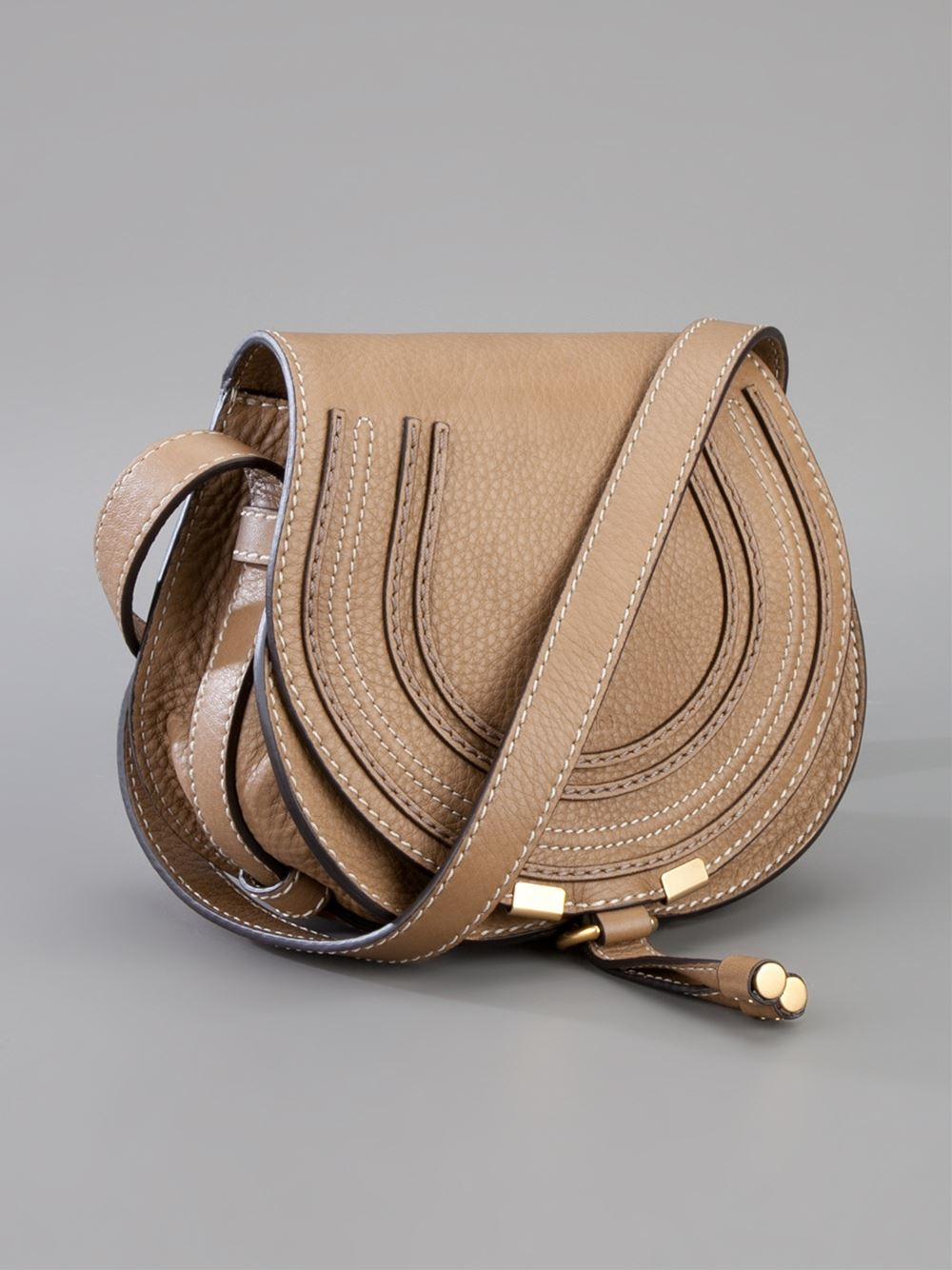 see by chloe bags shop online - chloe marcie medium saddle bag - nut, cheap chloe bags uk