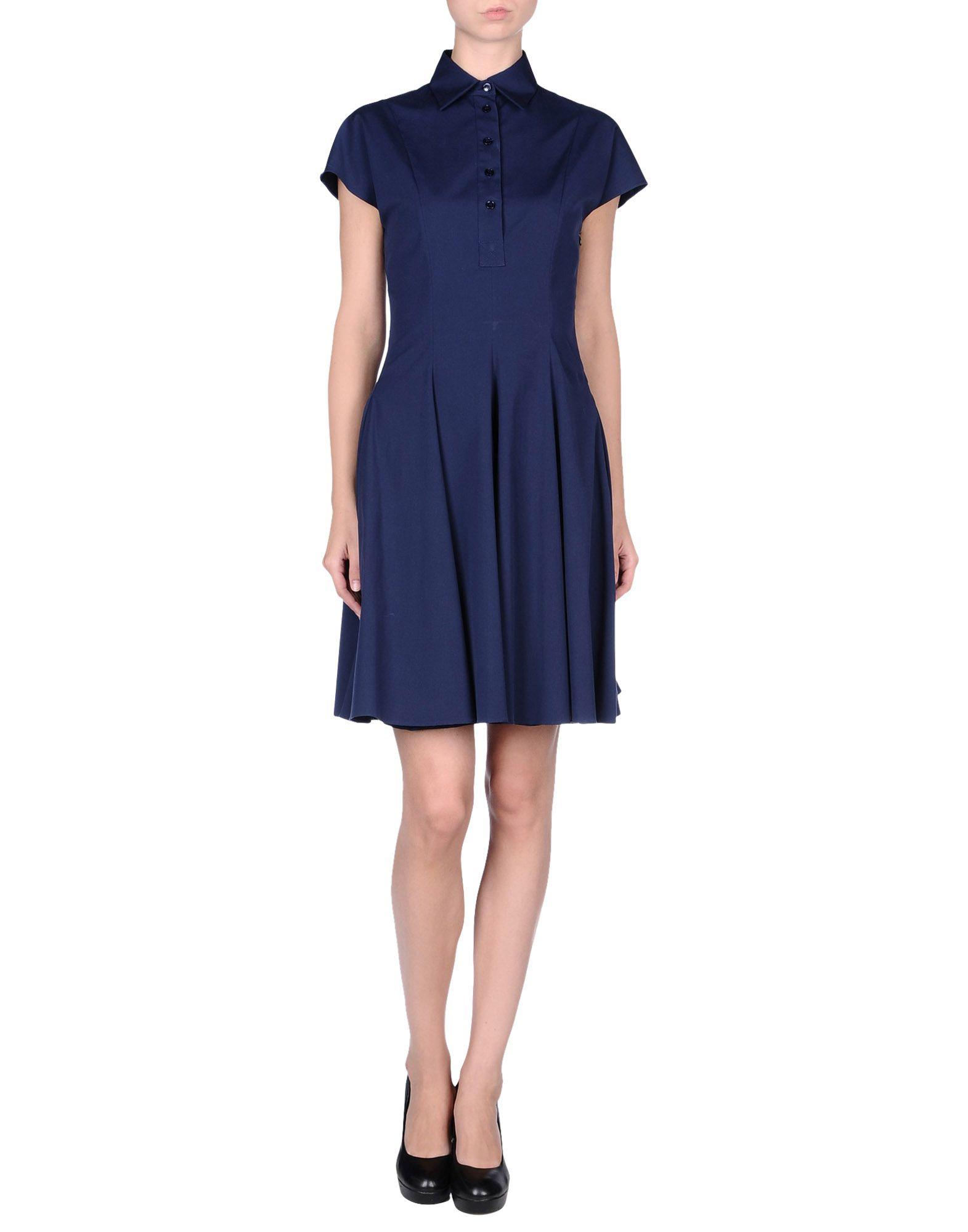 michael kors dress in blue blue lyst