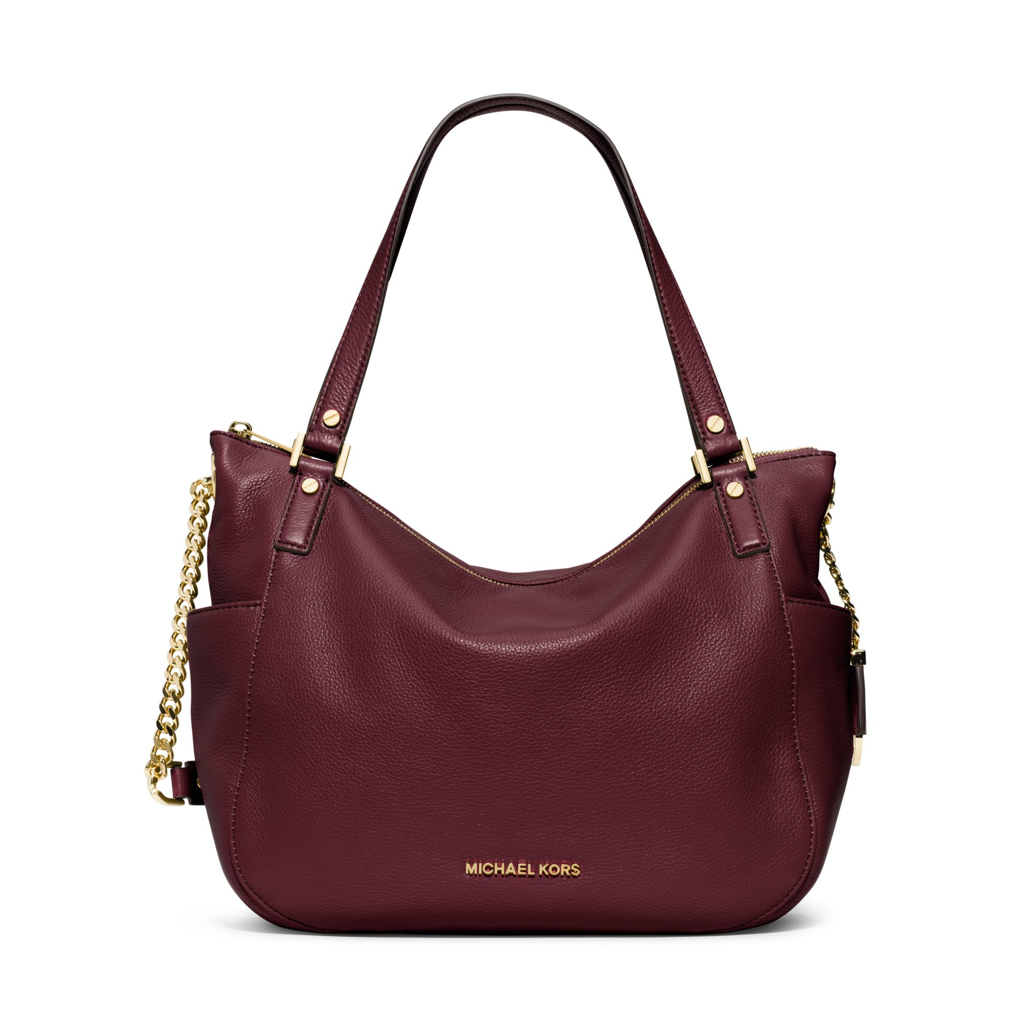 0fb73004854 ... denmark lyst michael kors chandler large leather tote in purple 970c9  4114f
