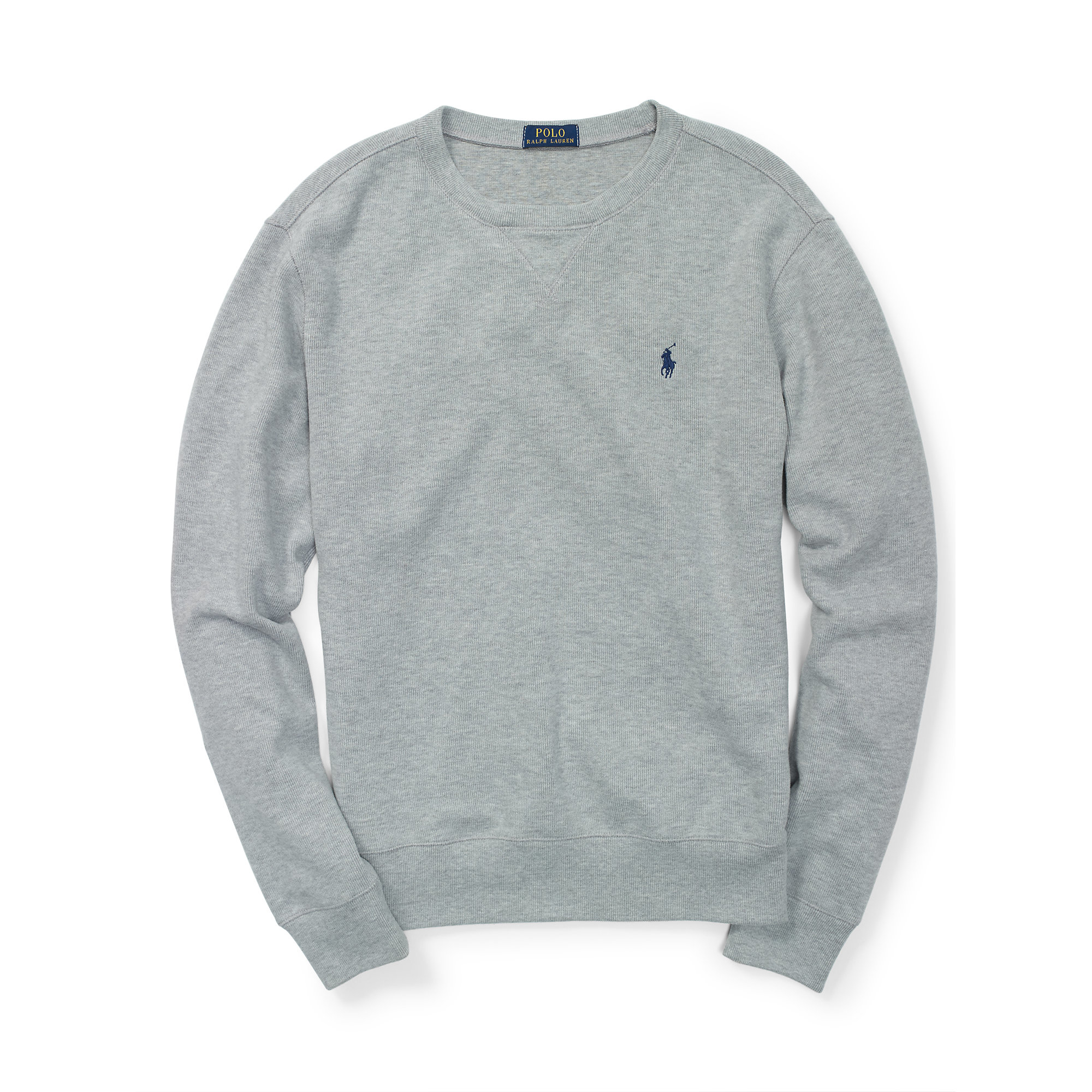 Polo ralph lauren French-rib Cotton Pullover in Gray for Men | Lyst