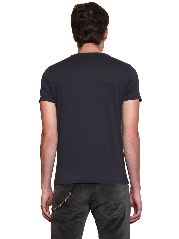 John richmond t shirt short sleeve roundneck face print in for T shirt printing richmond va
