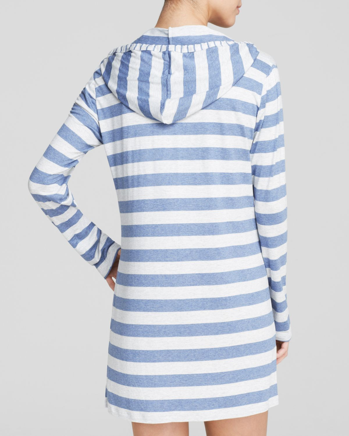 b5faa94a83 Lyst - Tommy Bahama Stripe Hoodie Swim Cover Up in Blue