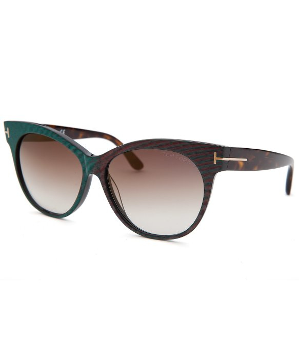 tom ford women 39 s saskia cat eye green sunglasses in green lyst. Cars Review. Best American Auto & Cars Review