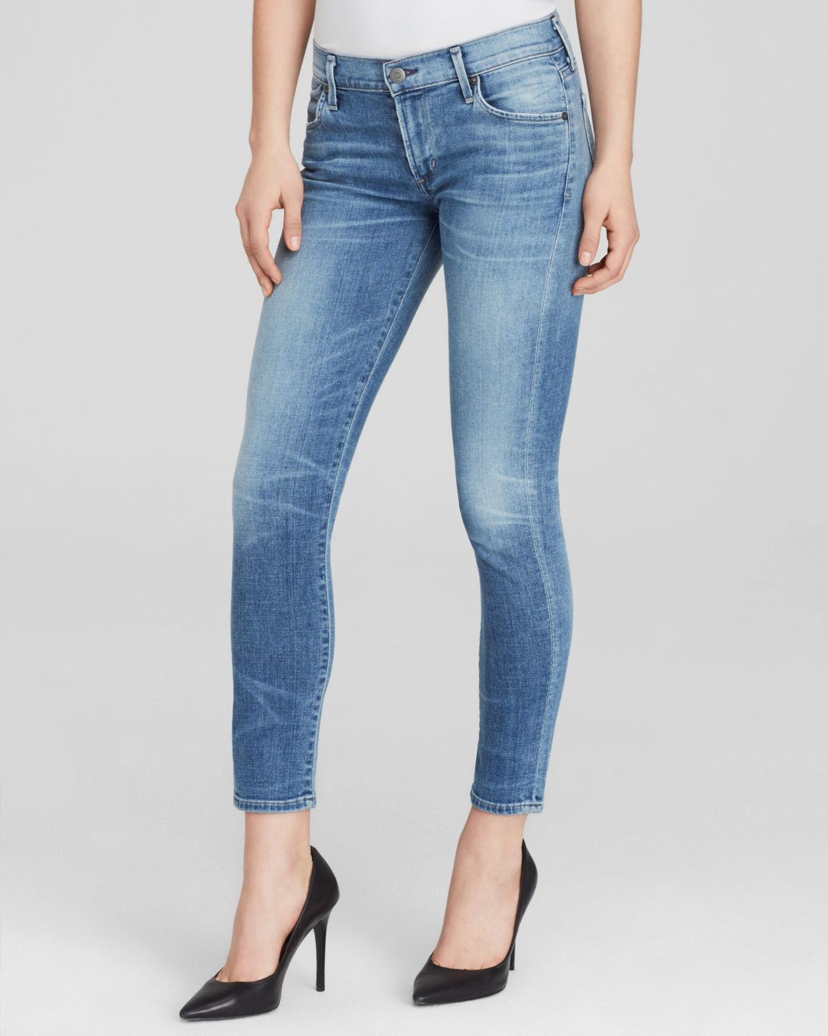 citizens of humanity jeans avedon ultra skinny ankle in blue bay breeze lyst. Black Bedroom Furniture Sets. Home Design Ideas