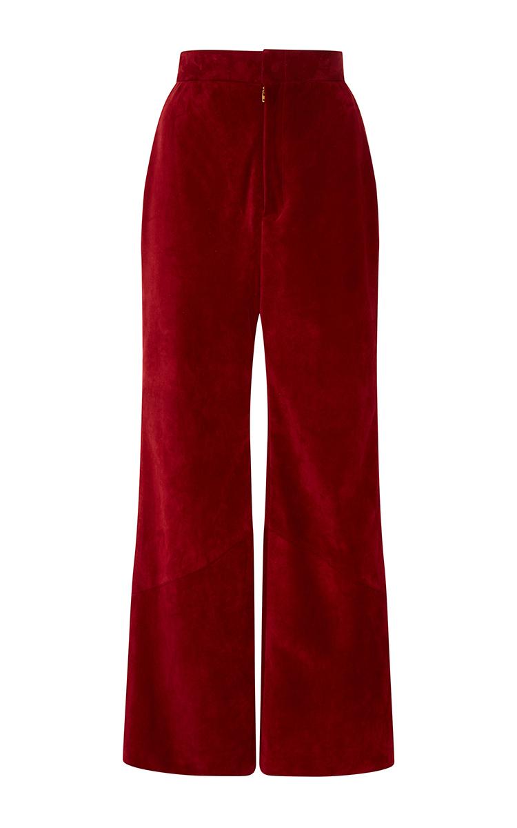Simple Womenu0026#39;s High Waisted Burgundy Skinny Pants In Pants