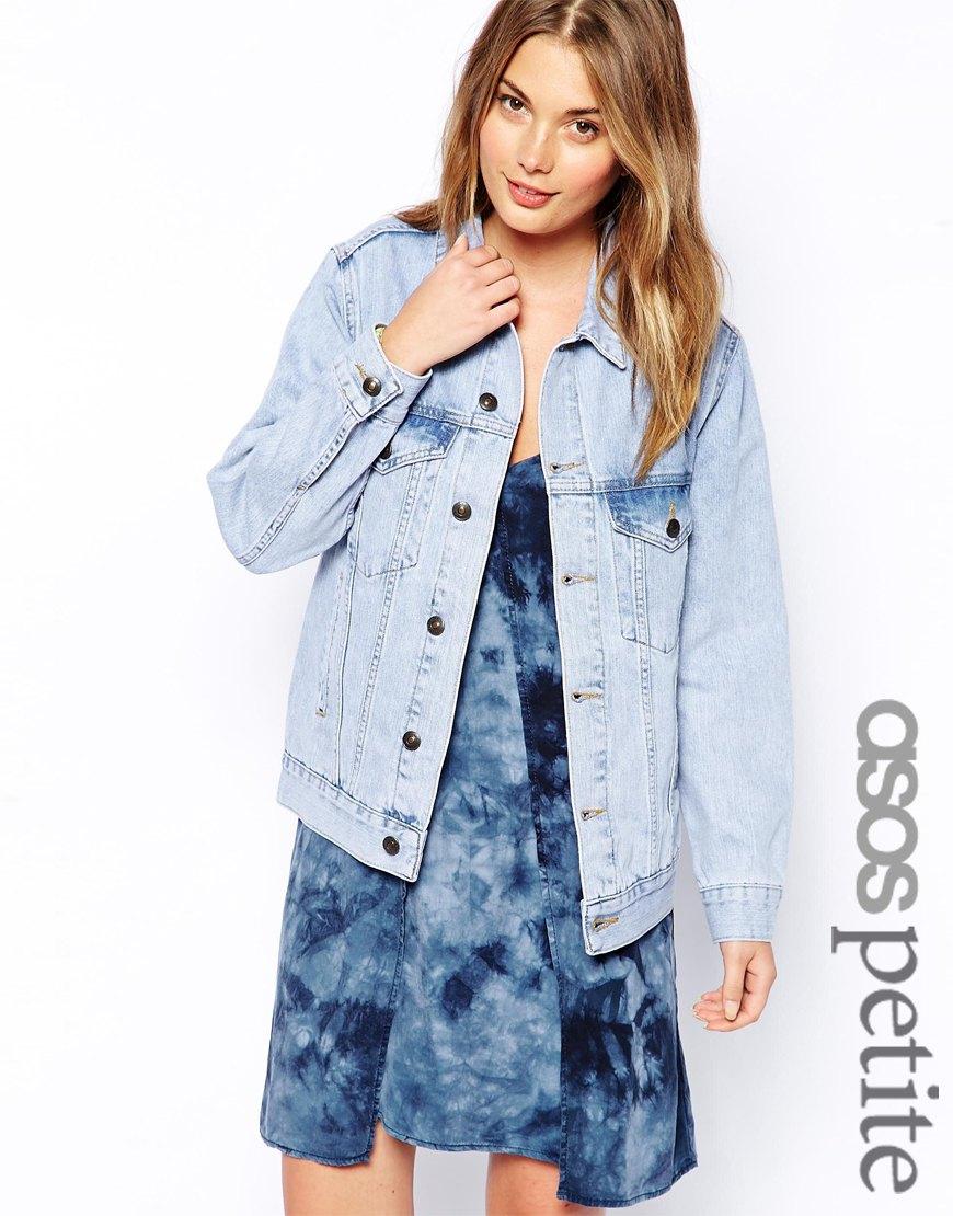 Lyst - ASOS Exclusive Light Wash Oversized Denim Jacket in Blue e90349318