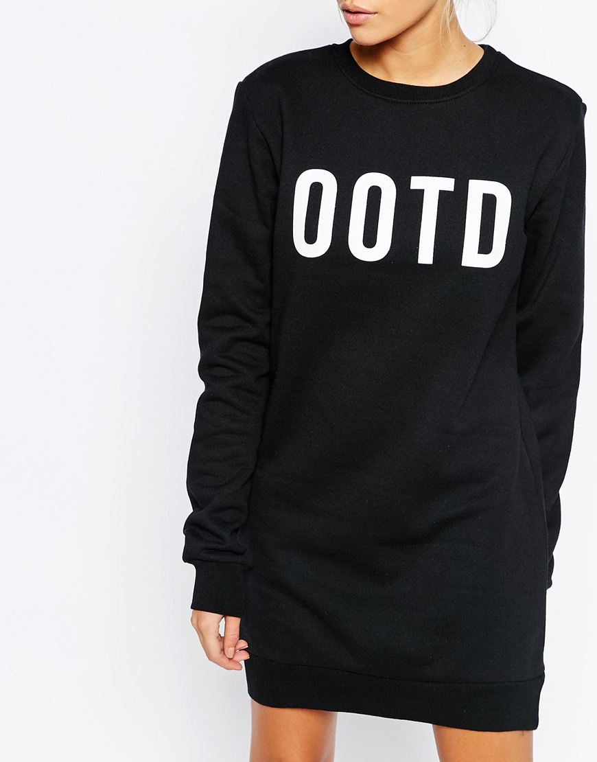 0f354ed4fe Lyst - Adolescent Clothing Boyfriend Sweater Dress With Ootd Print ...