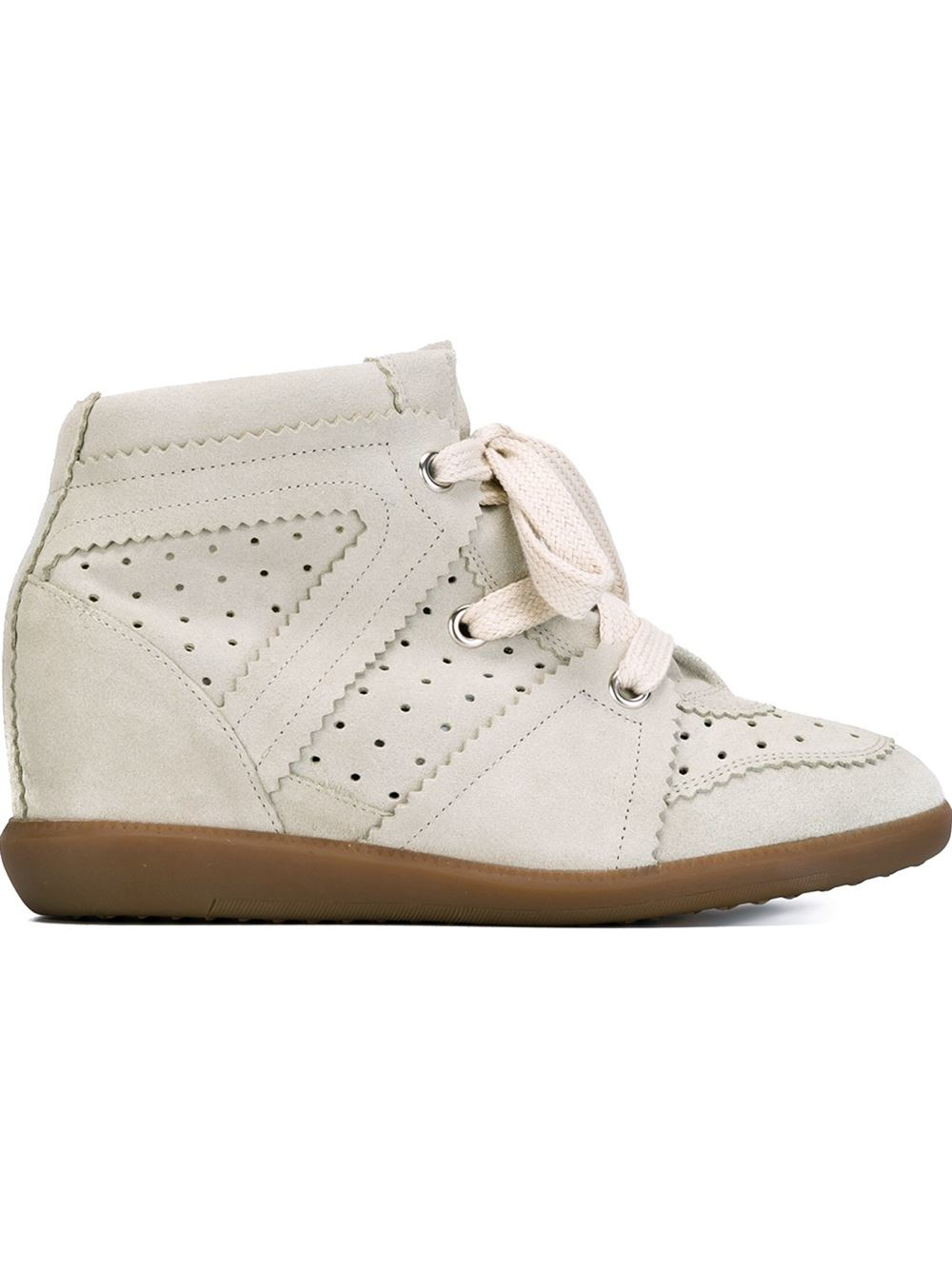 isabel marant toile bobby concealed wedge sneakers in natural lyst. Black Bedroom Furniture Sets. Home Design Ideas