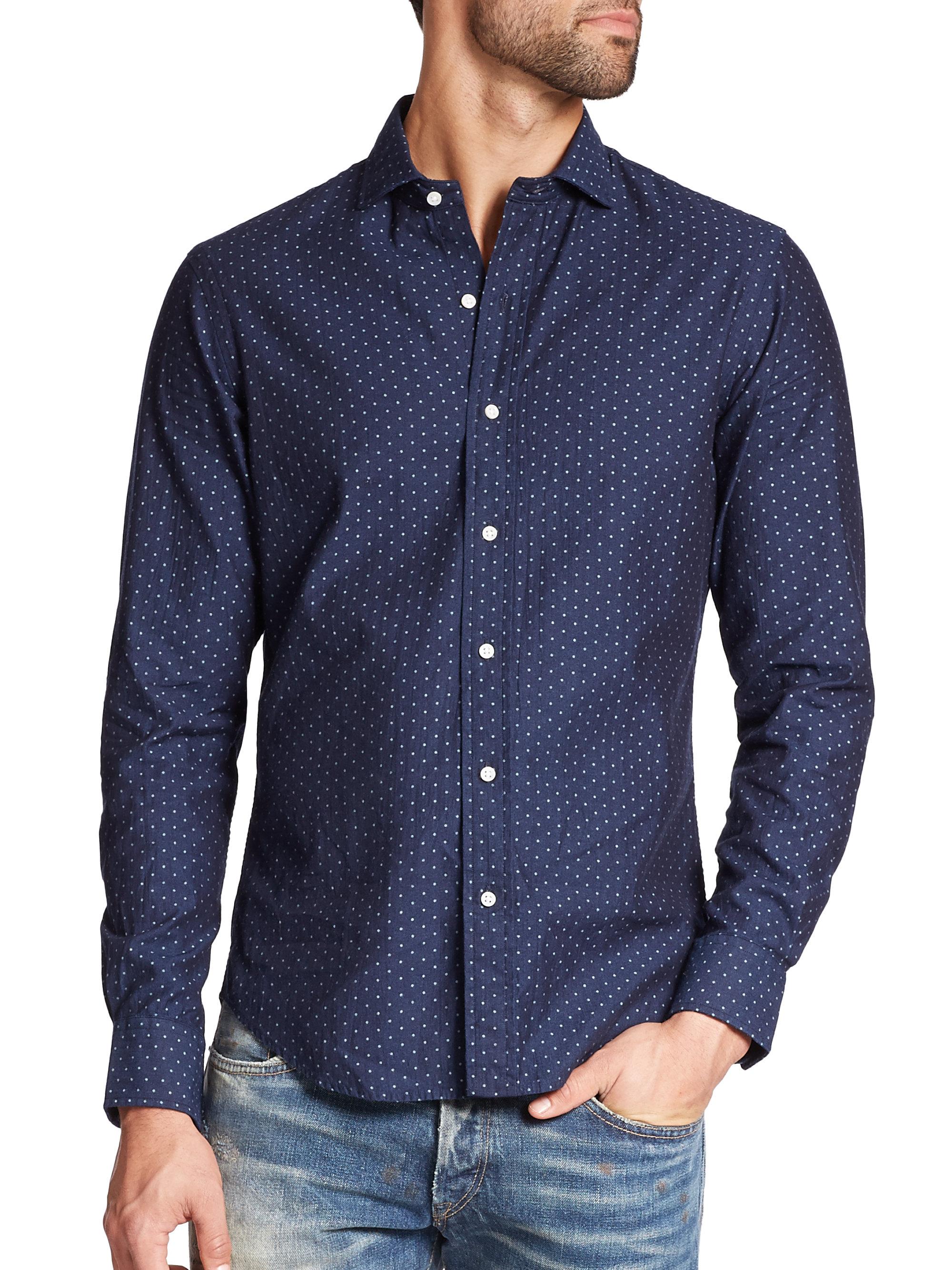 Polo Ralph Lauren Slim Fit Dotted Poplin Estate Sportshirt