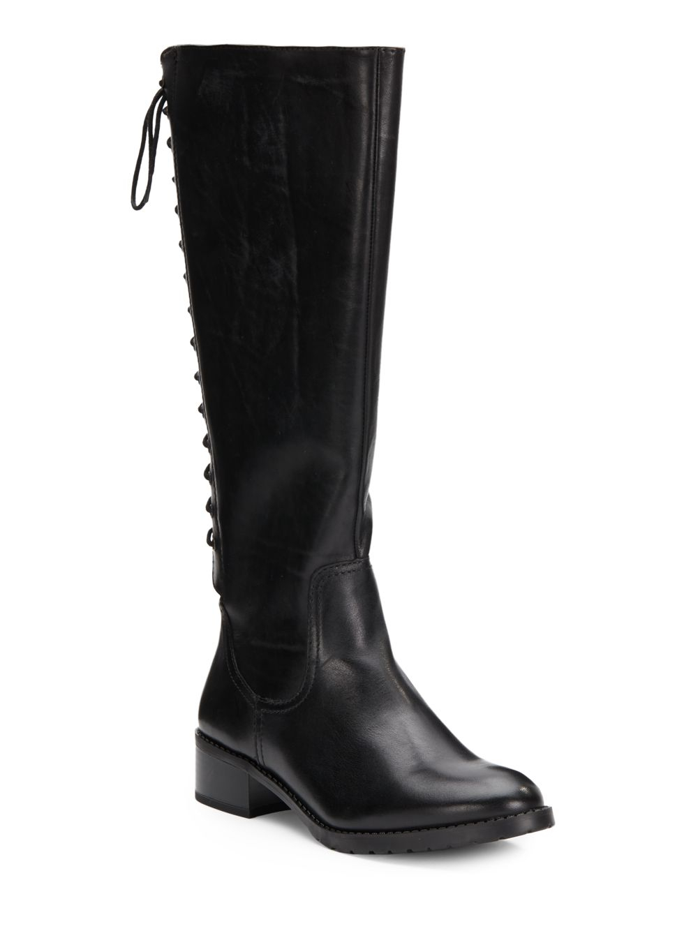 Lyst Donald J Pliner Baude Leather Tall Boots In Black