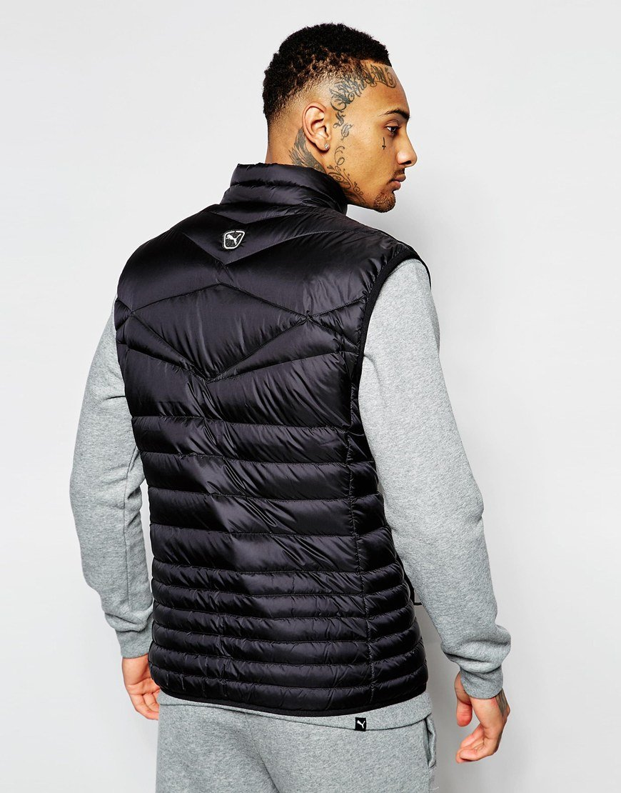 b1d6c61119ae Lyst - PUMA Padded Vest in Black for Men