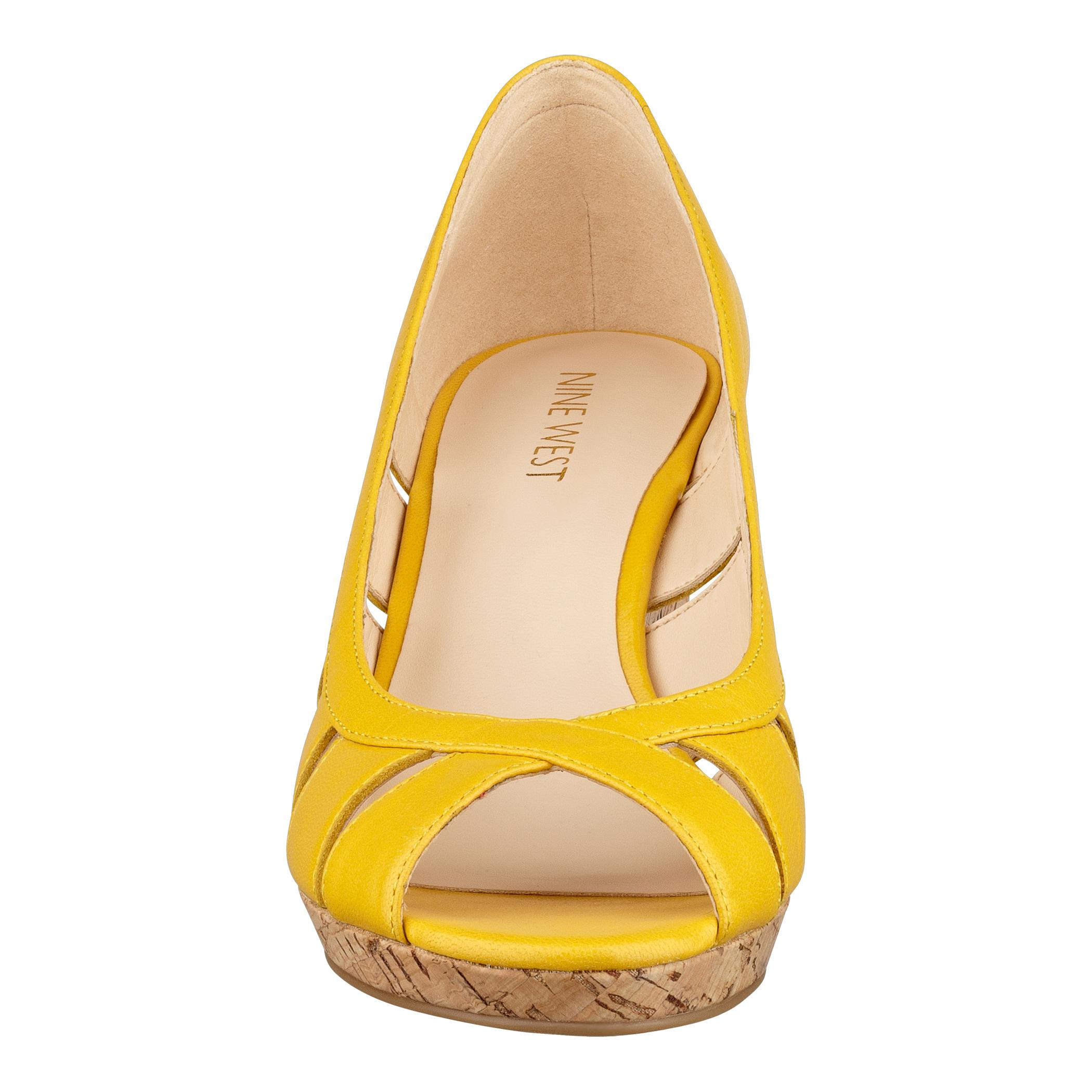 Lyst Nine West Jumbalia Wedge Heels In Yellow
