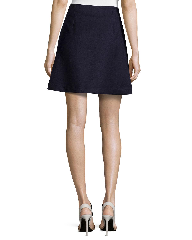 Risto Zipper Front Mini Skirt In Black Lyst