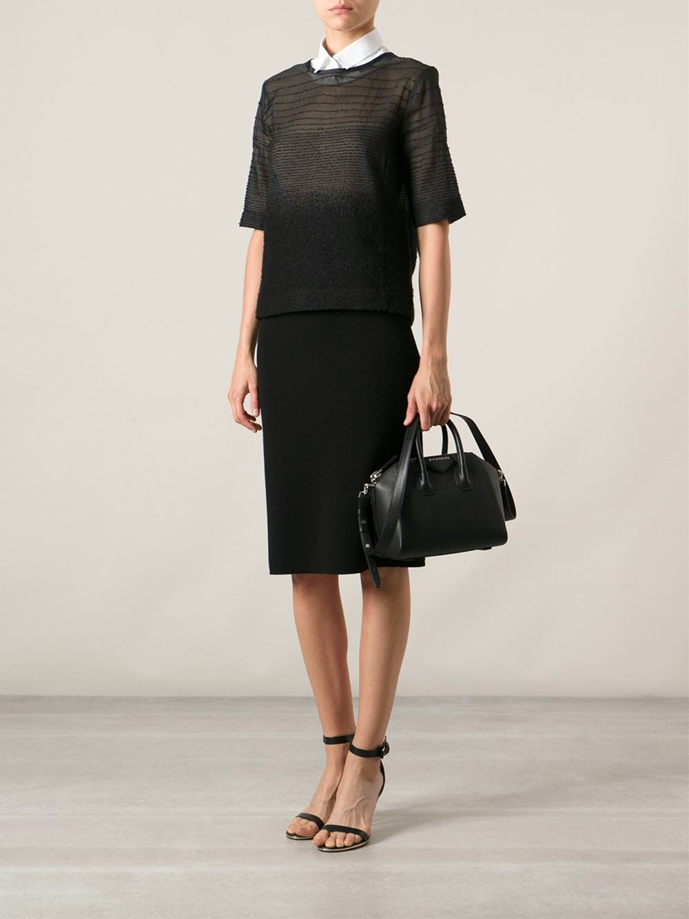Mi Ni Clips: Givenchy Mini 'Antigona' Tote In Black