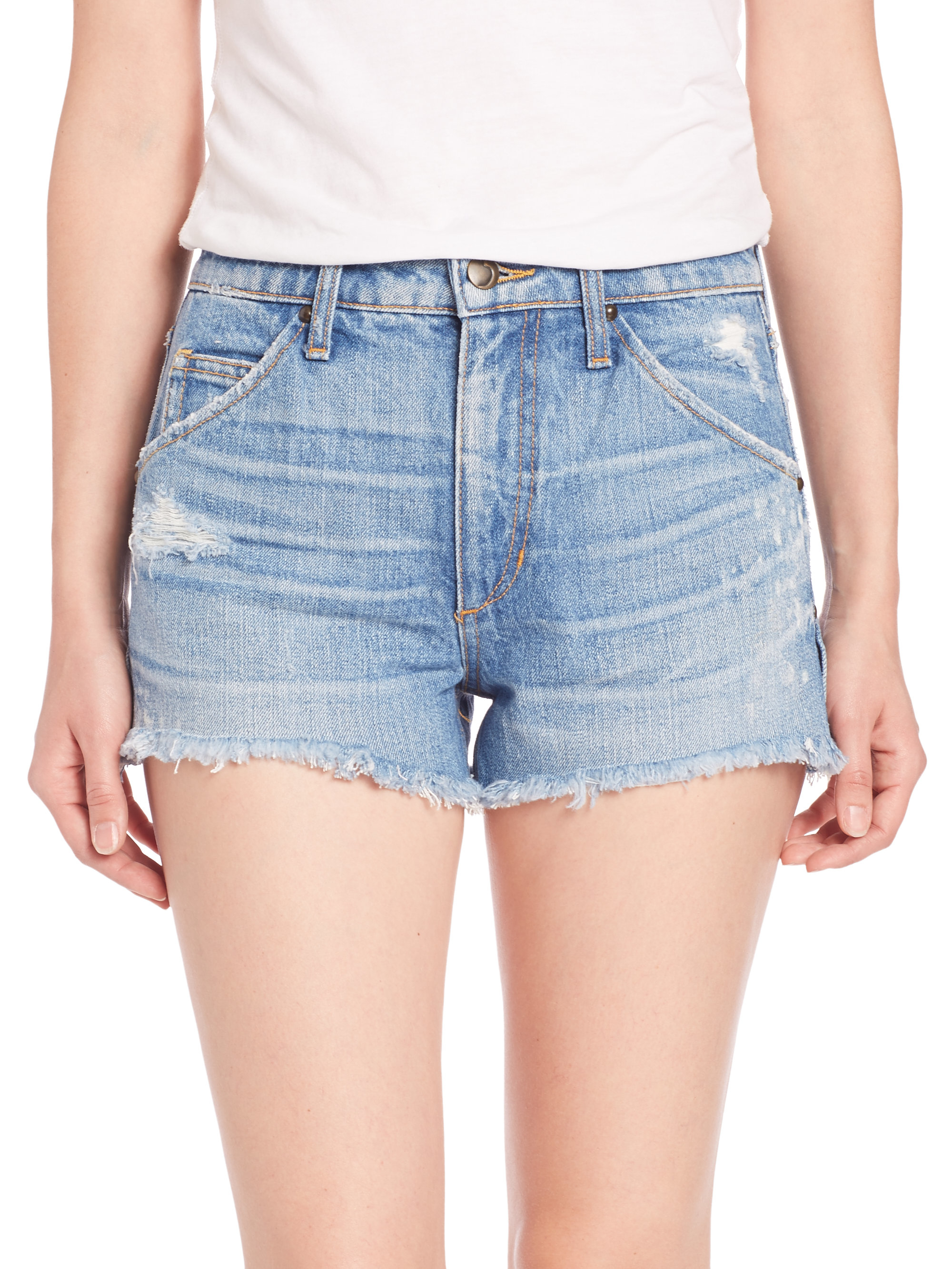 Joe's jeans Wasteland Distressed Cutoff Jean Shorts in Blue | Lyst
