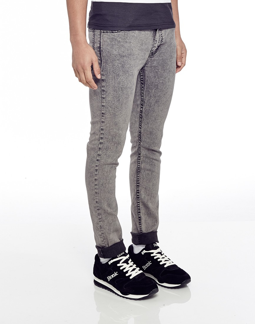 Cheap monday Tight Jeans Grey Black In Skinny Fit in Gray for Men ...