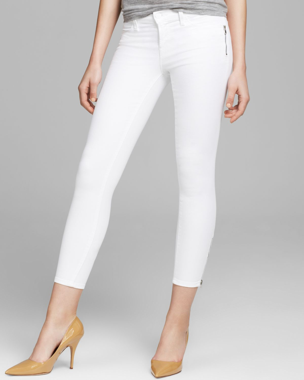 Lyst - J Brand Jeans Tali Zip Skinny in Blanc in White