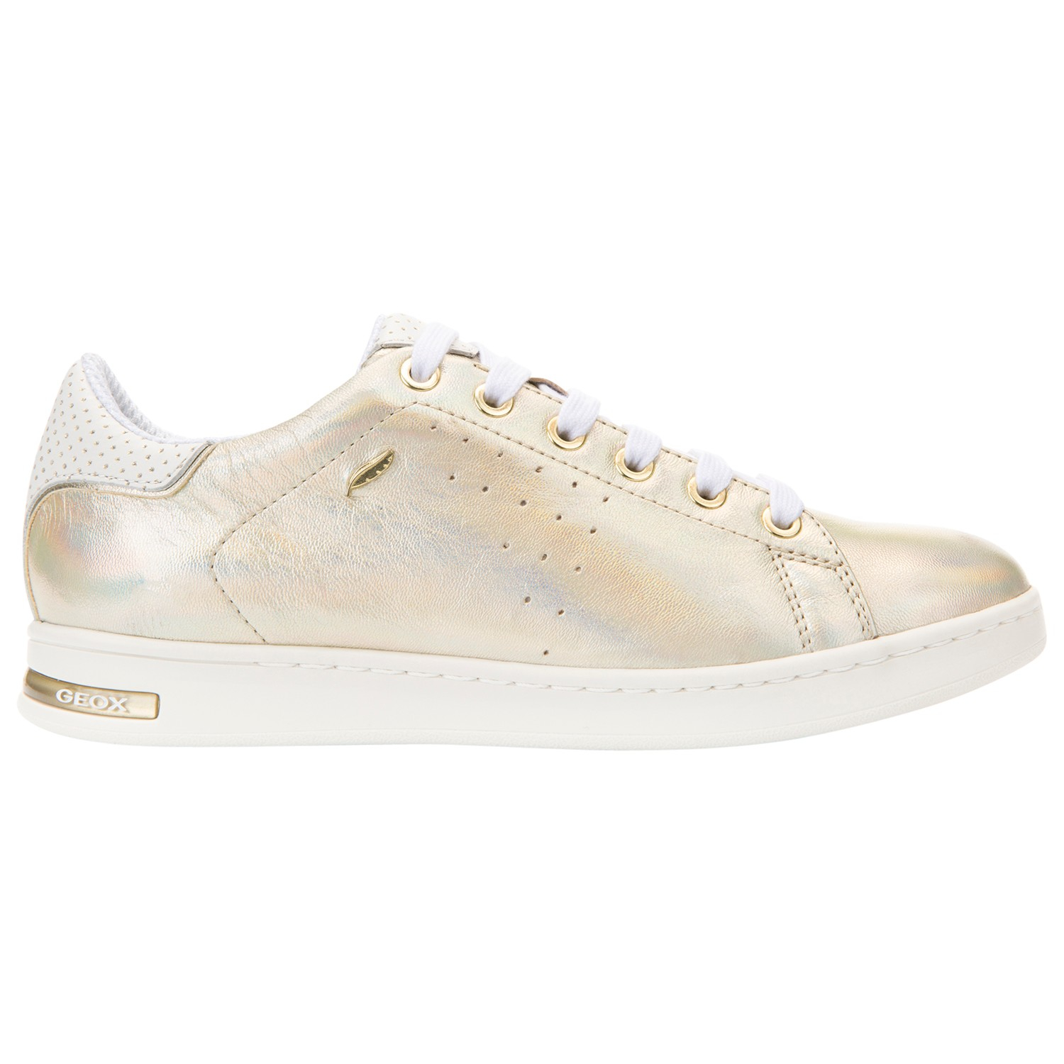 57fb7a6d78 Geox Jaysen Flat Lace Up Trainers in Metallic - Lyst