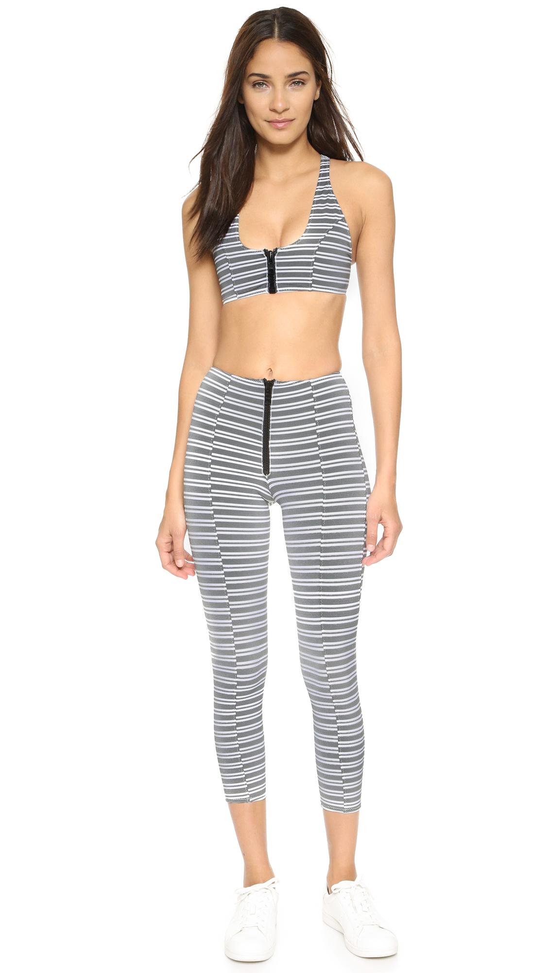 Yoke zip-front high-waisted leggings Lisa Marie Fernandez ICzklb