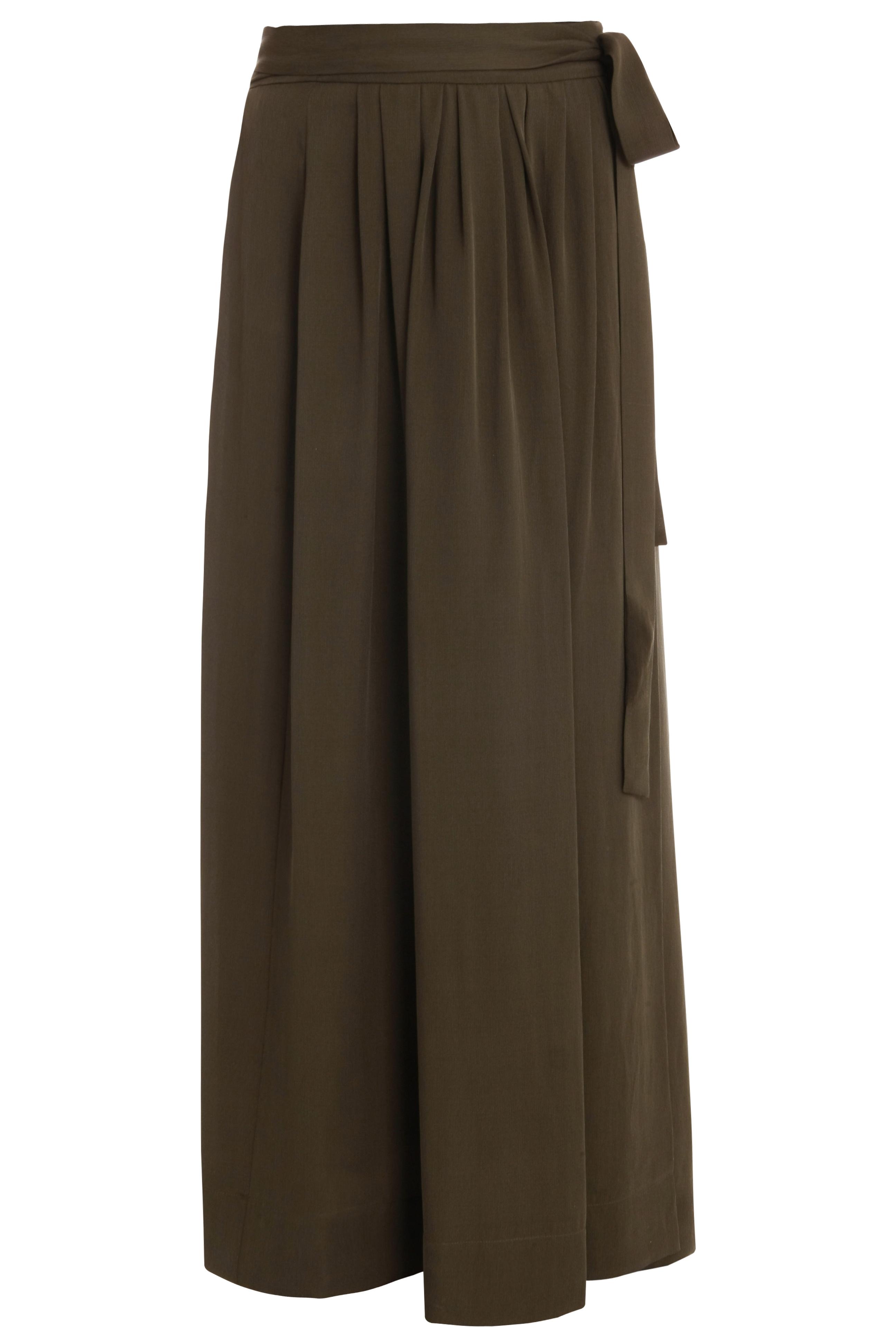 marant zim silk tie maxi skirt in green lyst