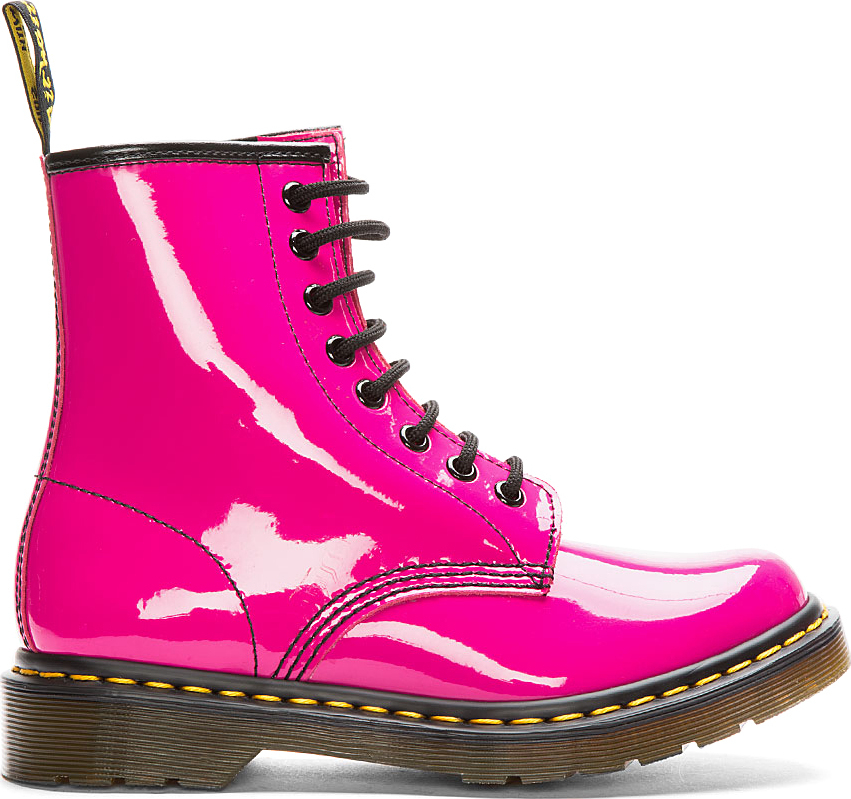 Lyst Dr Martens Hot Pink Patent Leather Cambridge Brush