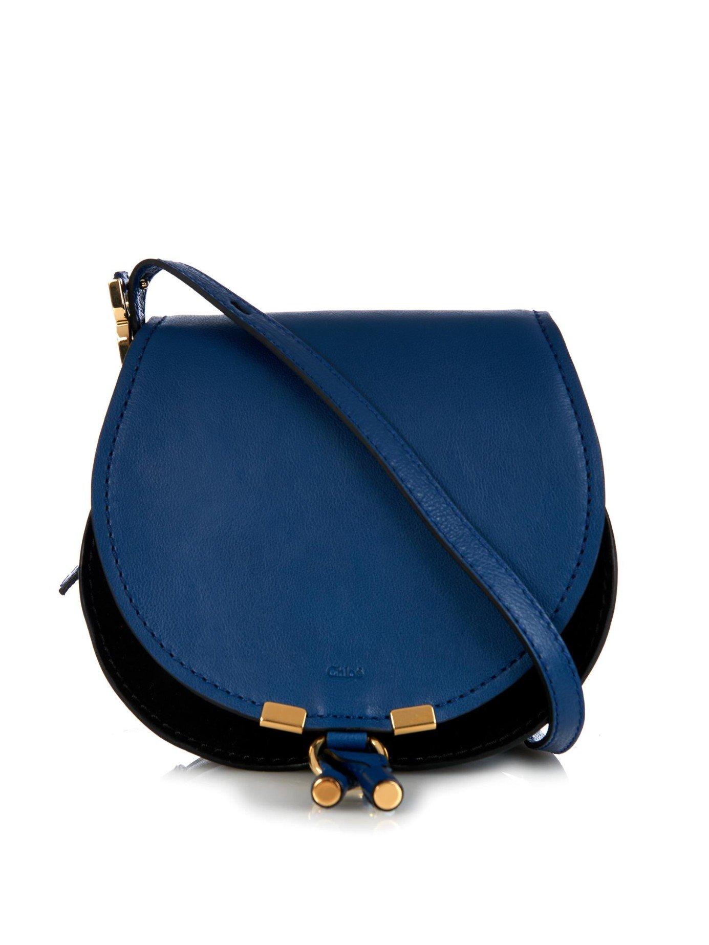 Chlo Marcie Nude Small Cross-Body Bag In Blue  Lyst-6984