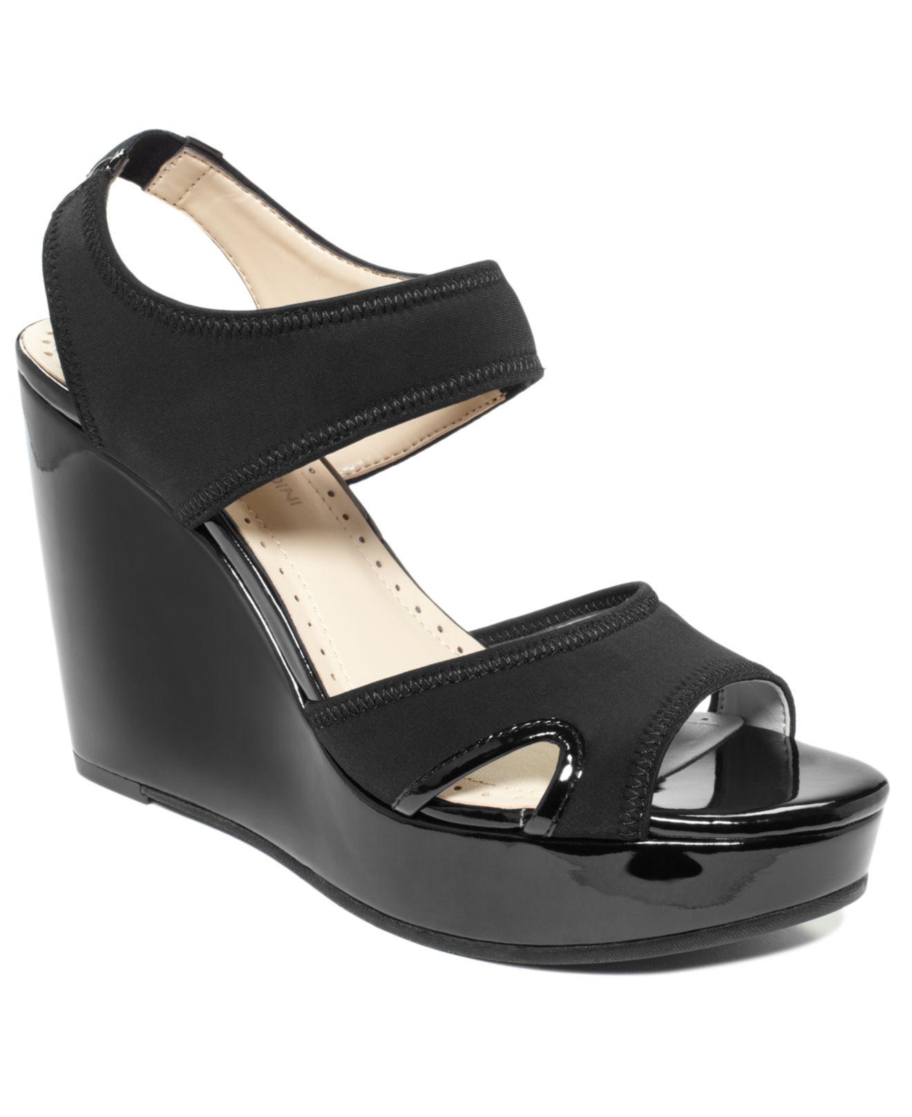 1b147114e3b Lyst - Adrienne Vittadini Clover Platform Wedge Sandals in Black